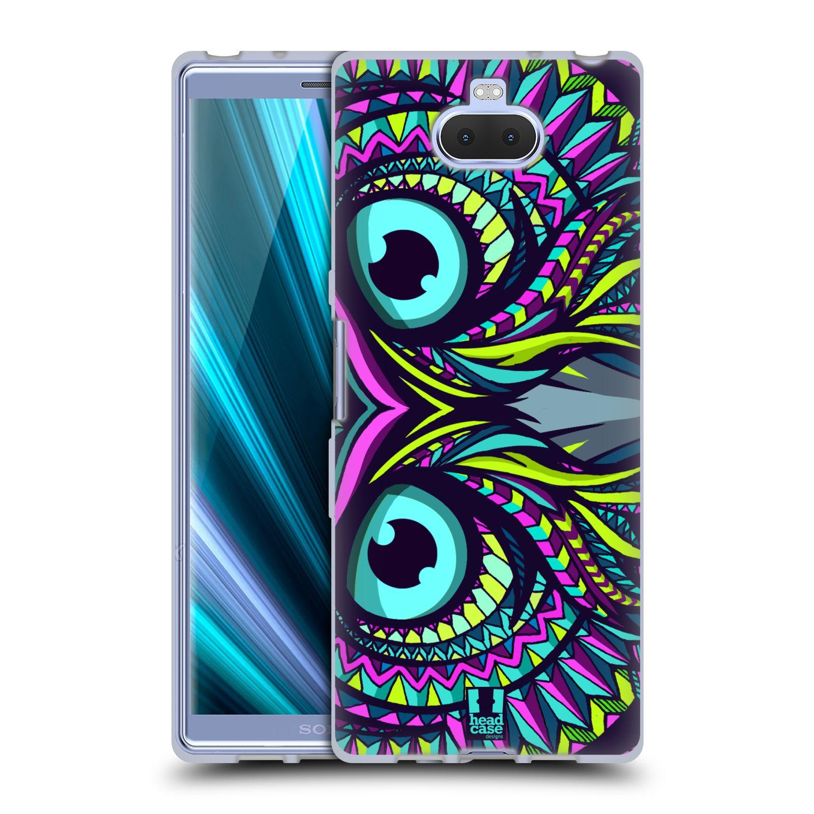 Silikonové pouzdro na mobil Sony Xperia 10 - Head Case - AZTEC SOVA