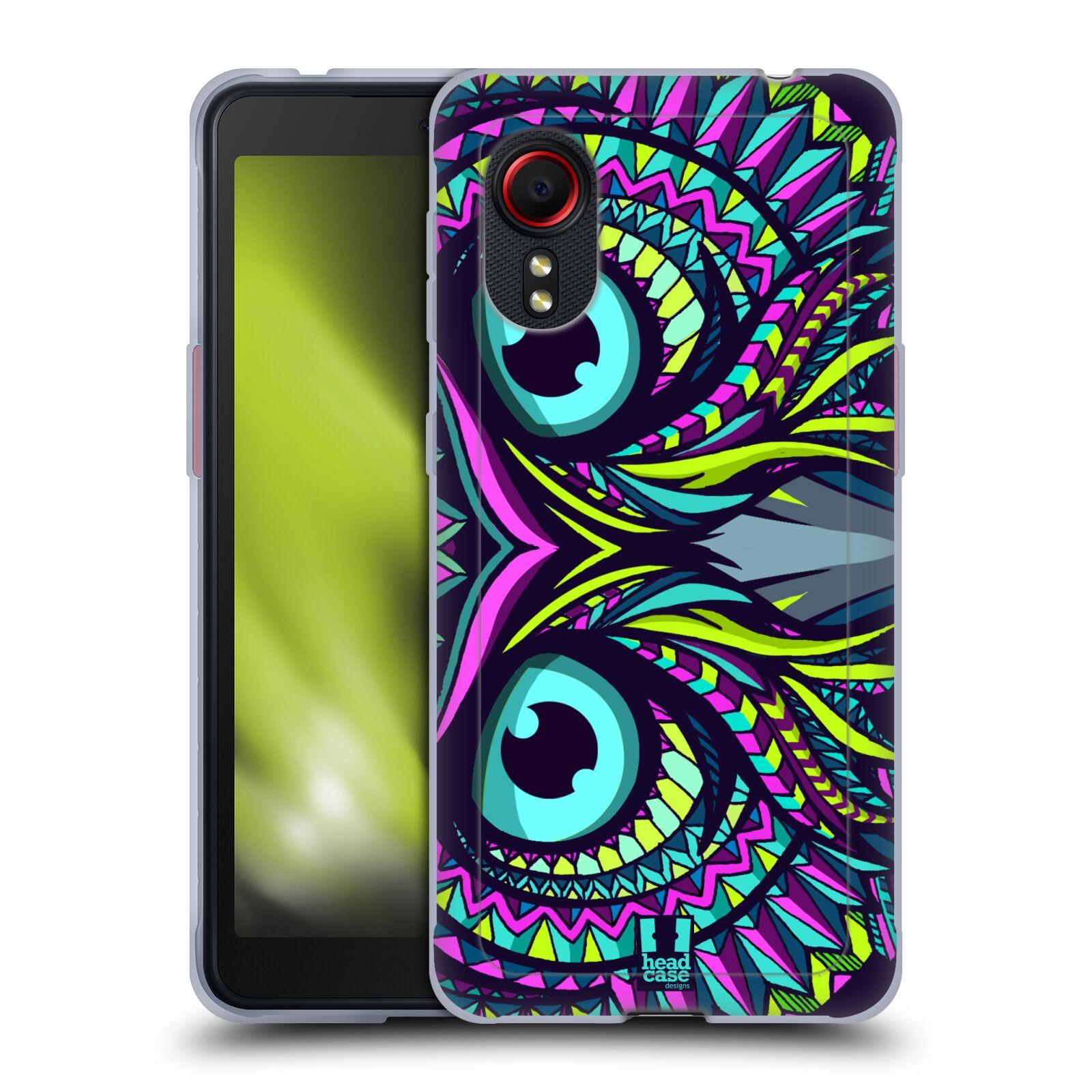 Silikonové pouzdro na mobil Samsung Galaxy Xcover 5 - Head Case - AZTEC SOVA