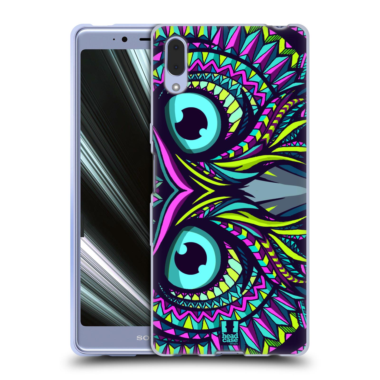 Silikonové pouzdro na mobil Sony Xperia L3 - Head Case - AZTEC SOVA