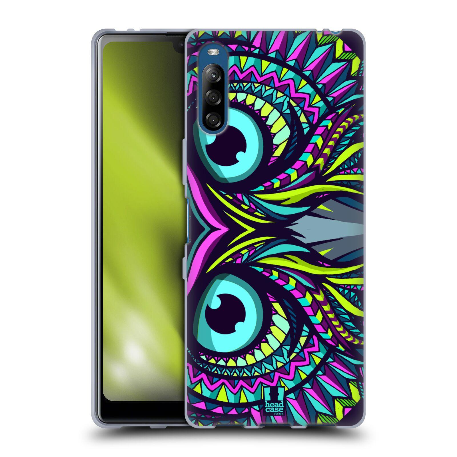 Silikonové pouzdro na mobil Sony Xperia L4 - Head Case - AZTEC SOVA