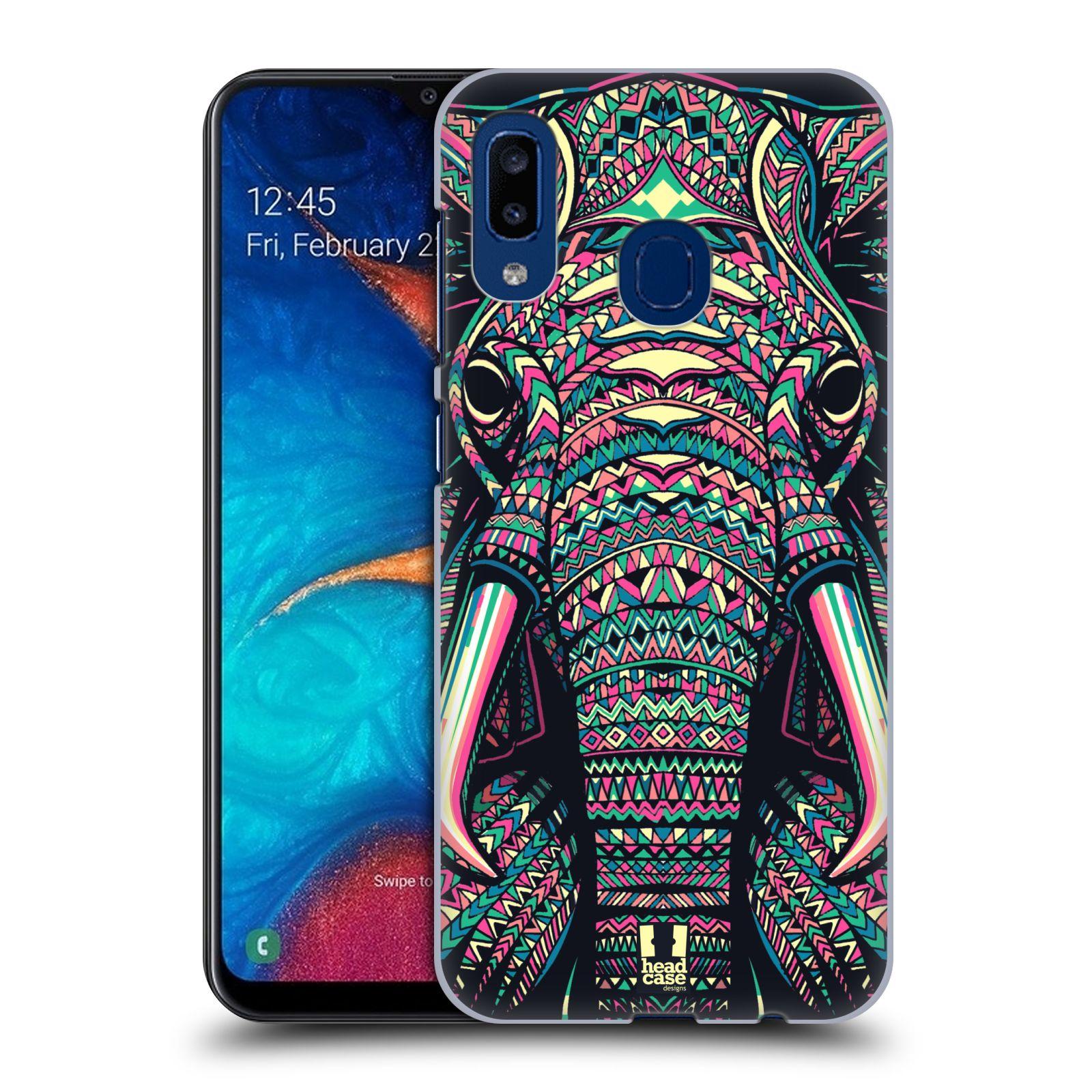 Plastové pouzdro na mobil Samsung Galaxy A20 - Head Case - AZTEC SLON