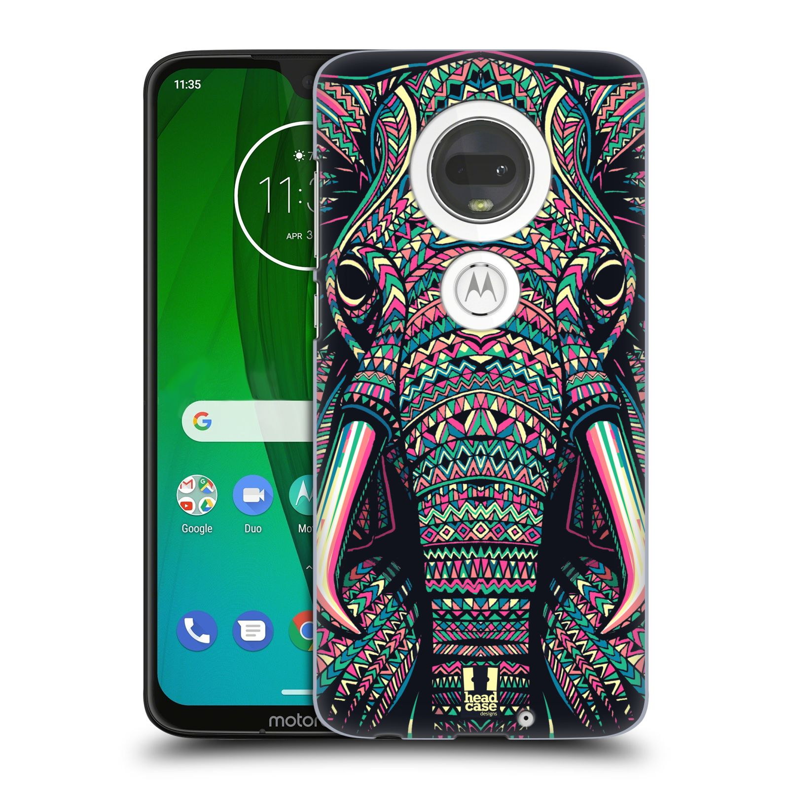 Plastové pouzdro na mobil Motorola Moto G7 - Head Case - AZTEC SLON