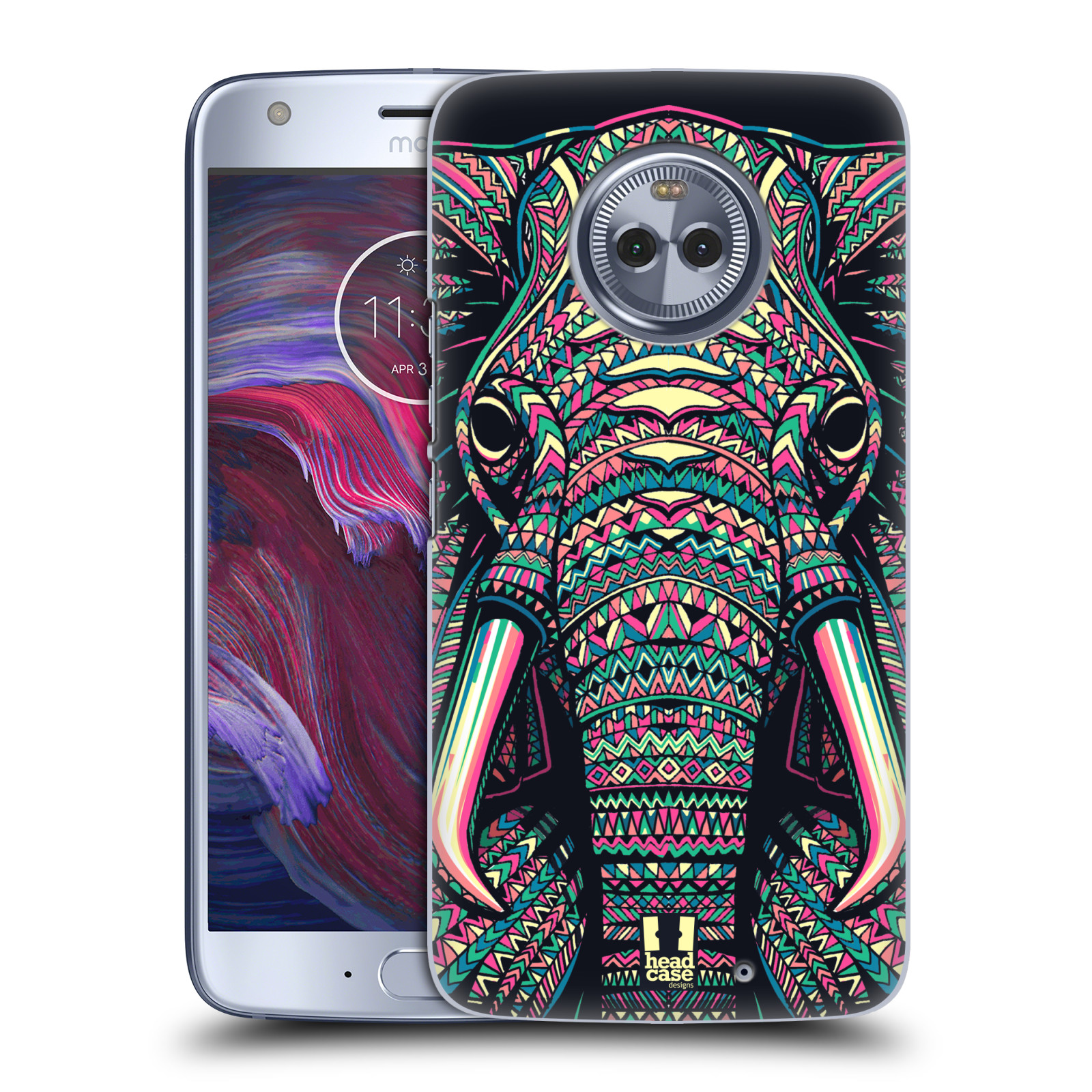 Plastové pouzdro na mobil Lenovo Moto X4 - Head Case - AZTEC SLON