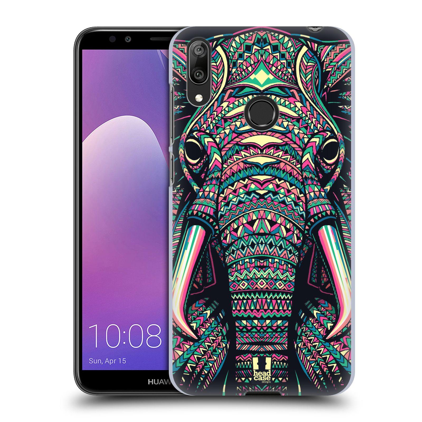 Plastové pouzdro na mobil Huawei Y7 (2019) - Head Case - AZTEC SLON