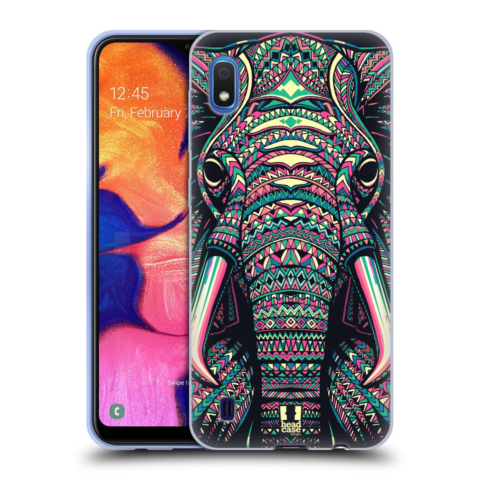 Silikonové pouzdro na mobil Samsung Galaxy A10 - Head Case - AZTEC SLON