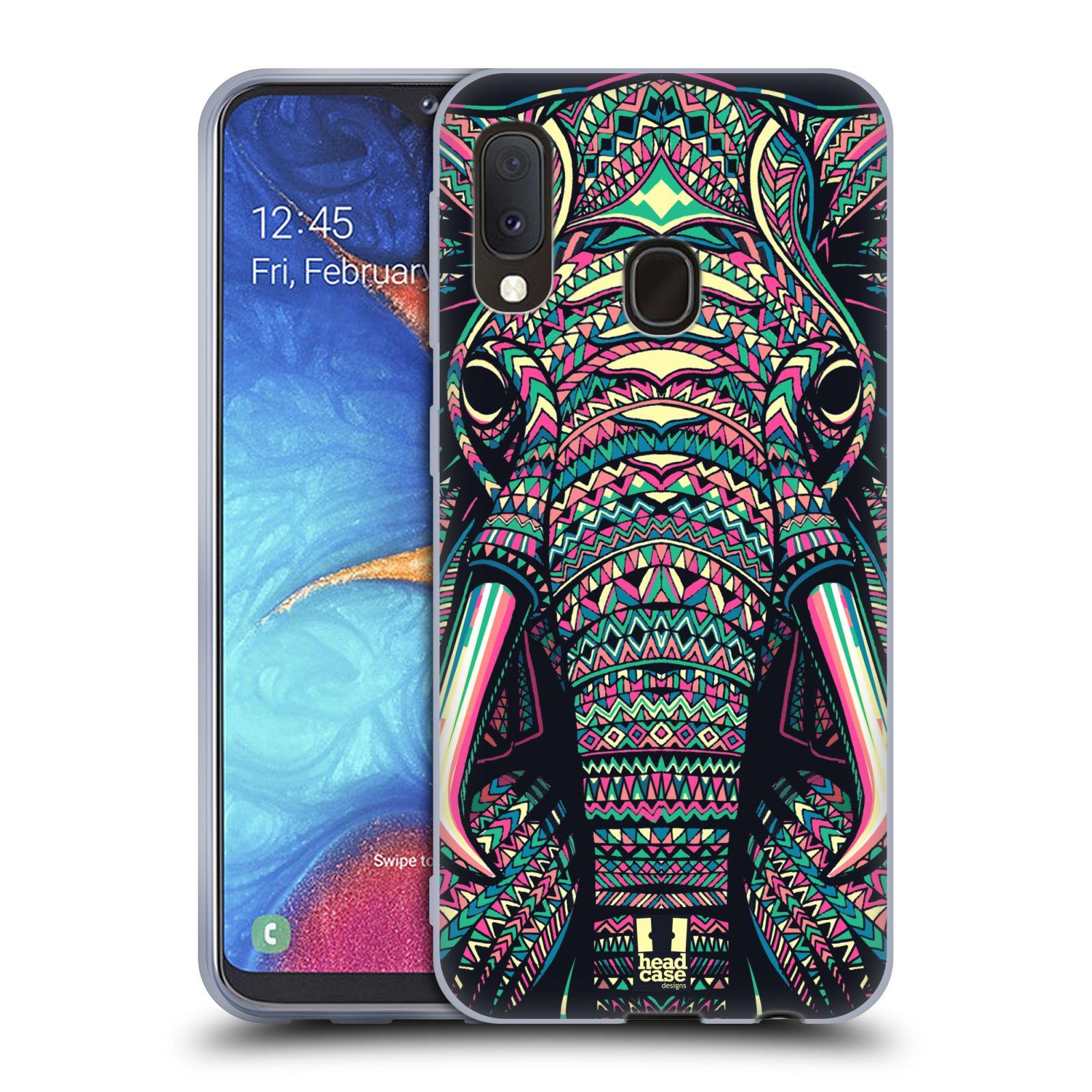 Silikonové pouzdro na mobil Samsung Galaxy A20e - Head Case - AZTEC SLON