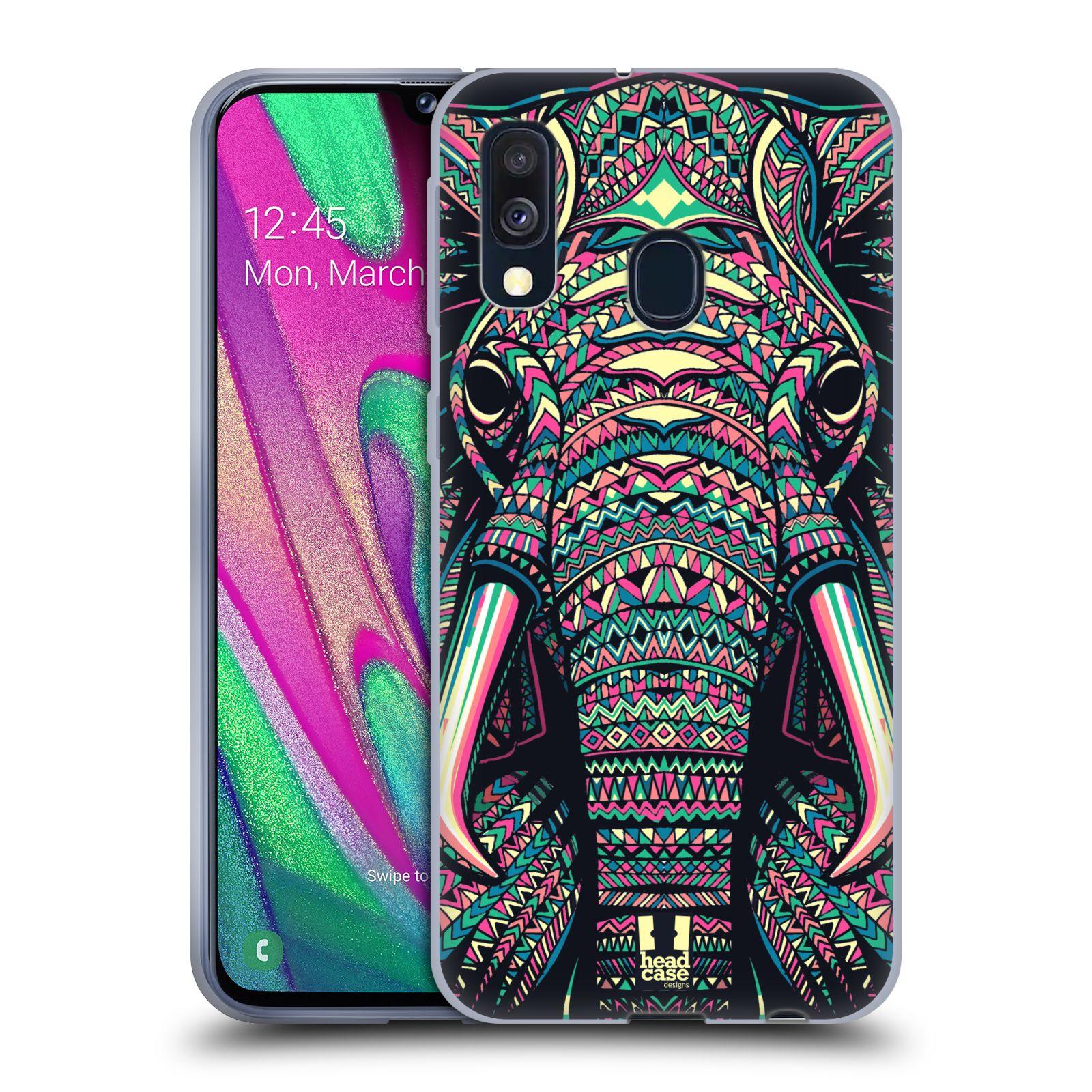 Silikonové pouzdro na mobil Samsung Galaxy A40 - Head Case - AZTEC SLON