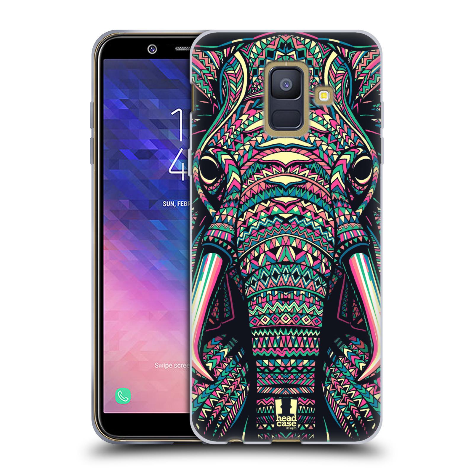 Silikonové pouzdro na mobil Samsung Galaxy A6 (2018) - Head Case - AZTEC SLON