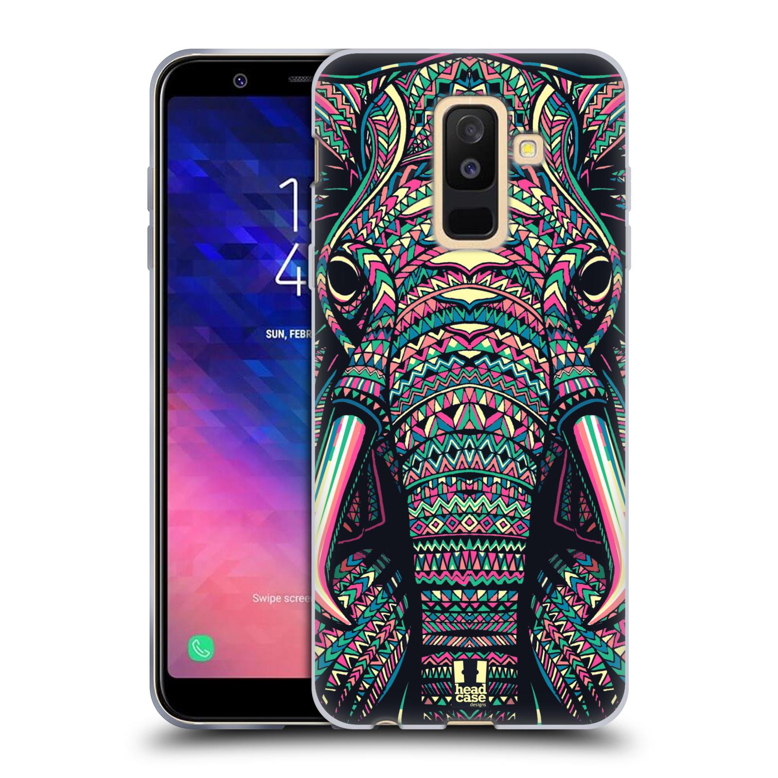 Silikonové pouzdro na mobil Samsung Galaxy A6 Plus (2018) - Head Case - AZTEC SLON