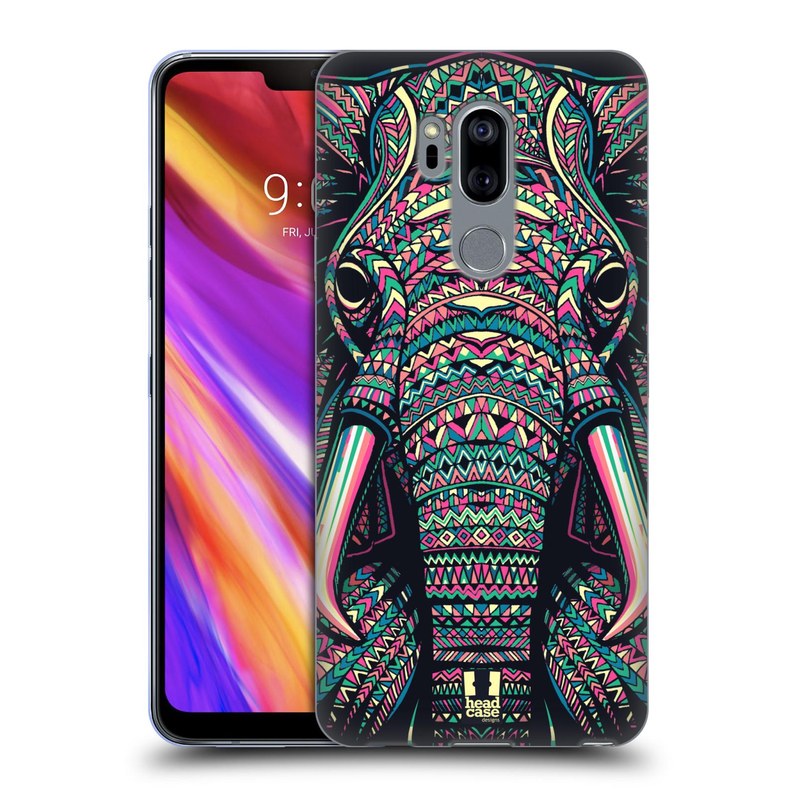 Silikonové pouzdro na mobil LG G7 ThinQ - Head Case - AZTEC SLON