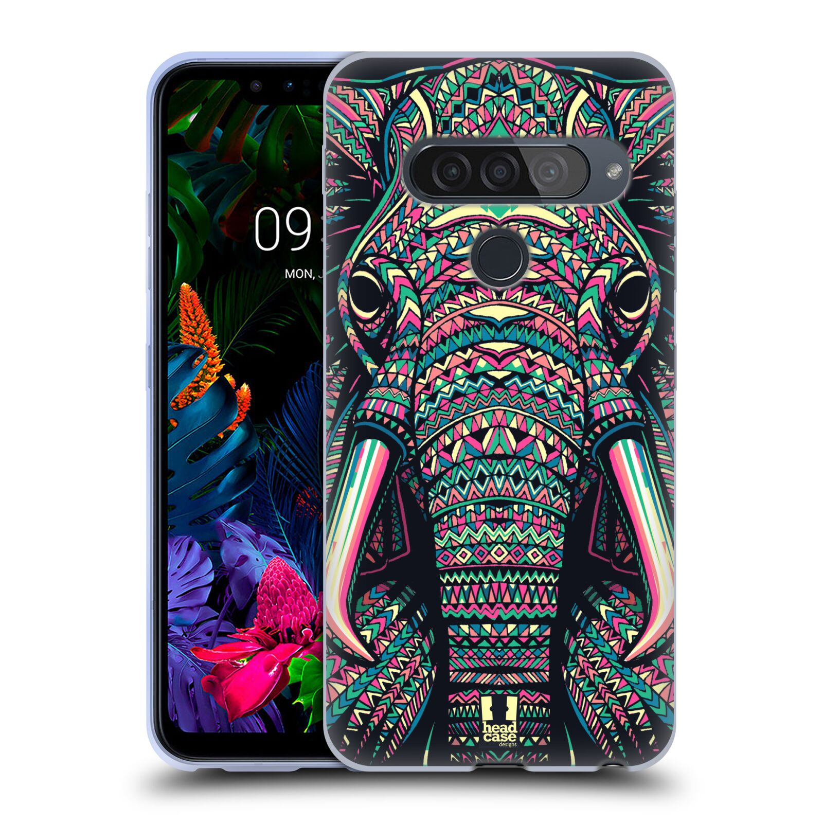 Silikonové pouzdro na mobil LG G8s ThinQ - Head Case - AZTEC SLON