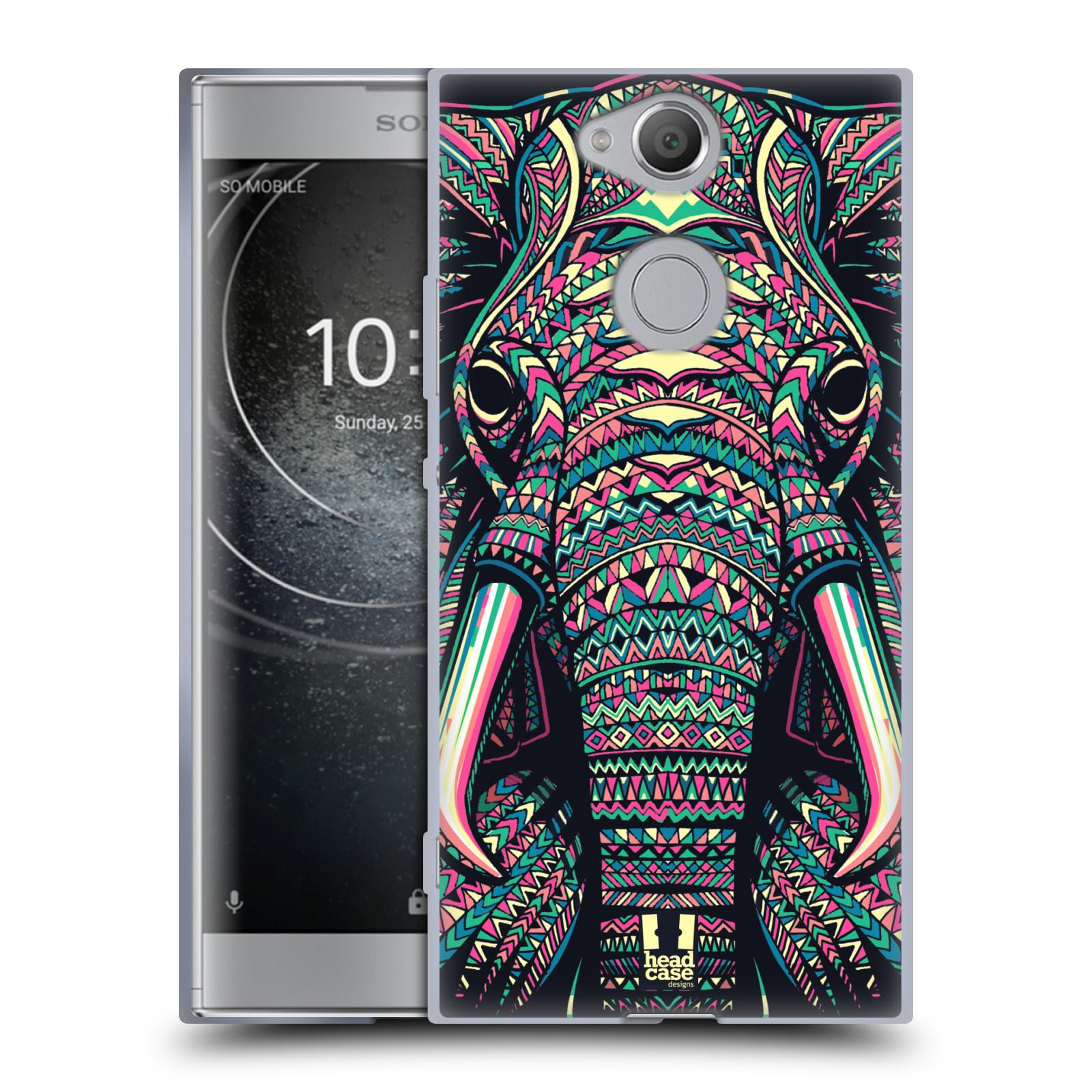 Silikonové pouzdro na mobil Sony Xperia XA2 - Head Case - AZTEC SLON