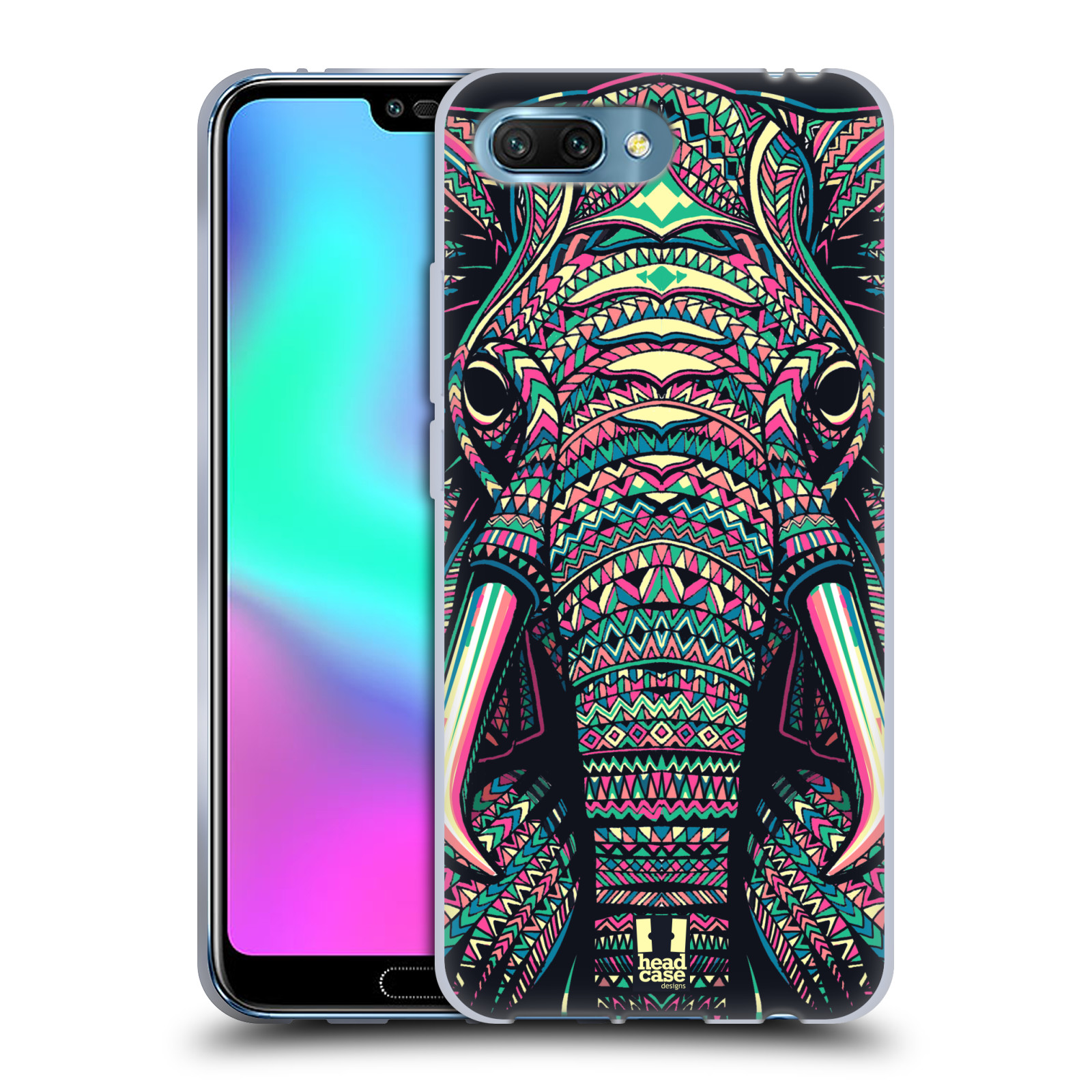Silikonové pouzdro na mobil Honor 10 - Head Case - AZTEC SLON
