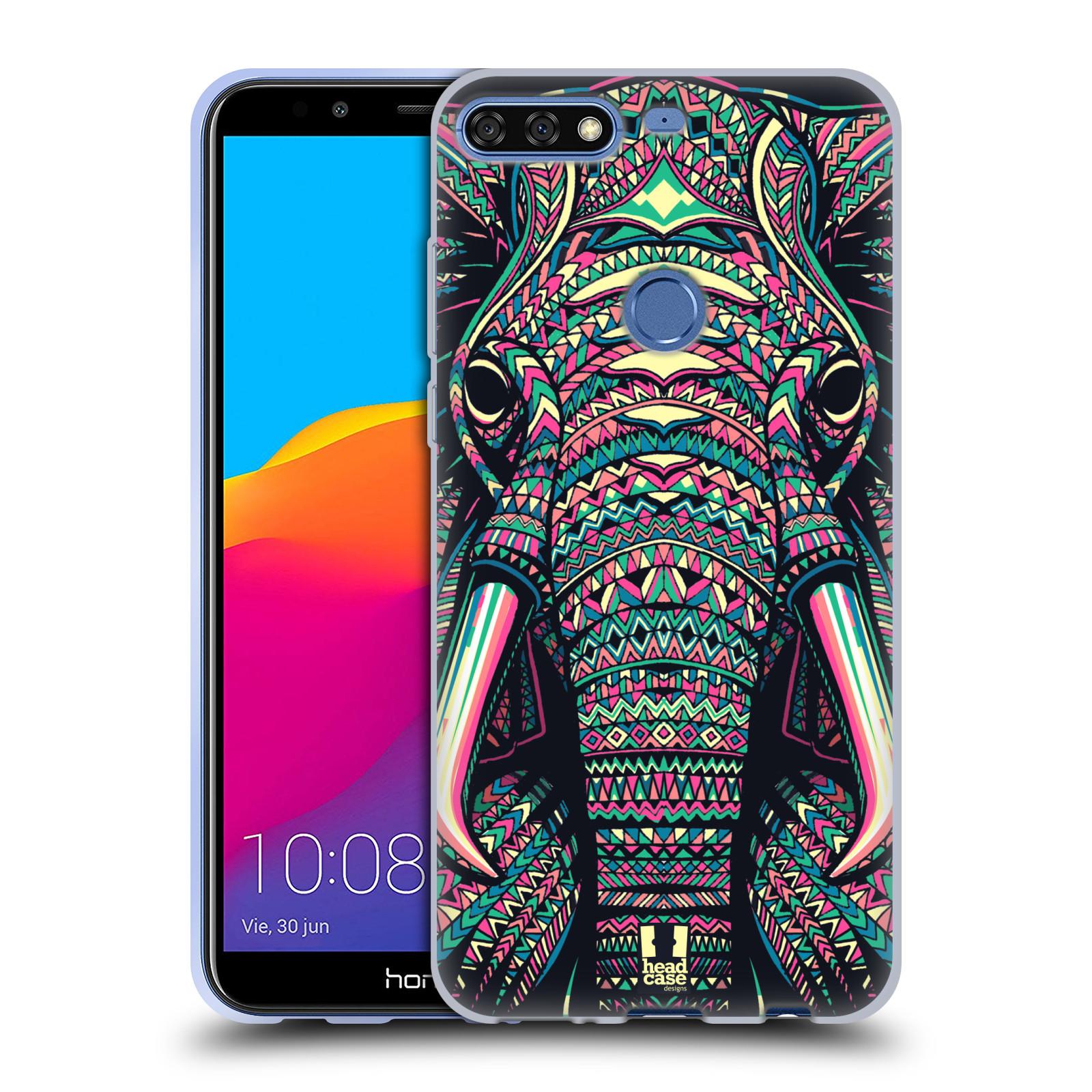 Silikonové pouzdro na mobil Huawei Y7 Prime (2018) - Head Case - AZTEC SLON