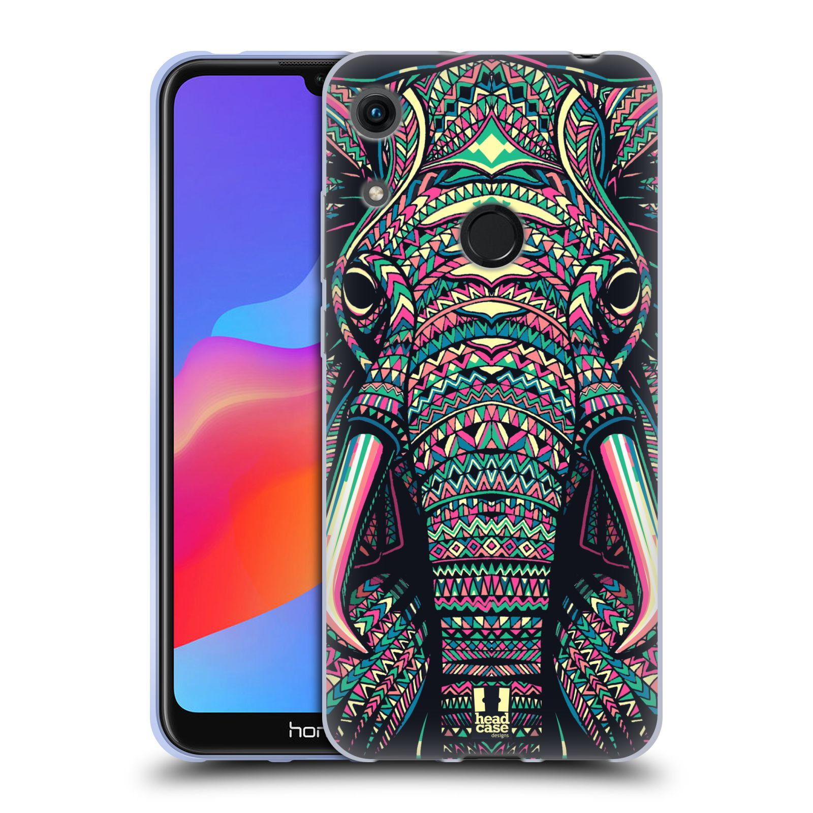 Silikonové pouzdro na mobil Honor 8A - Head Case - AZTEC SLON