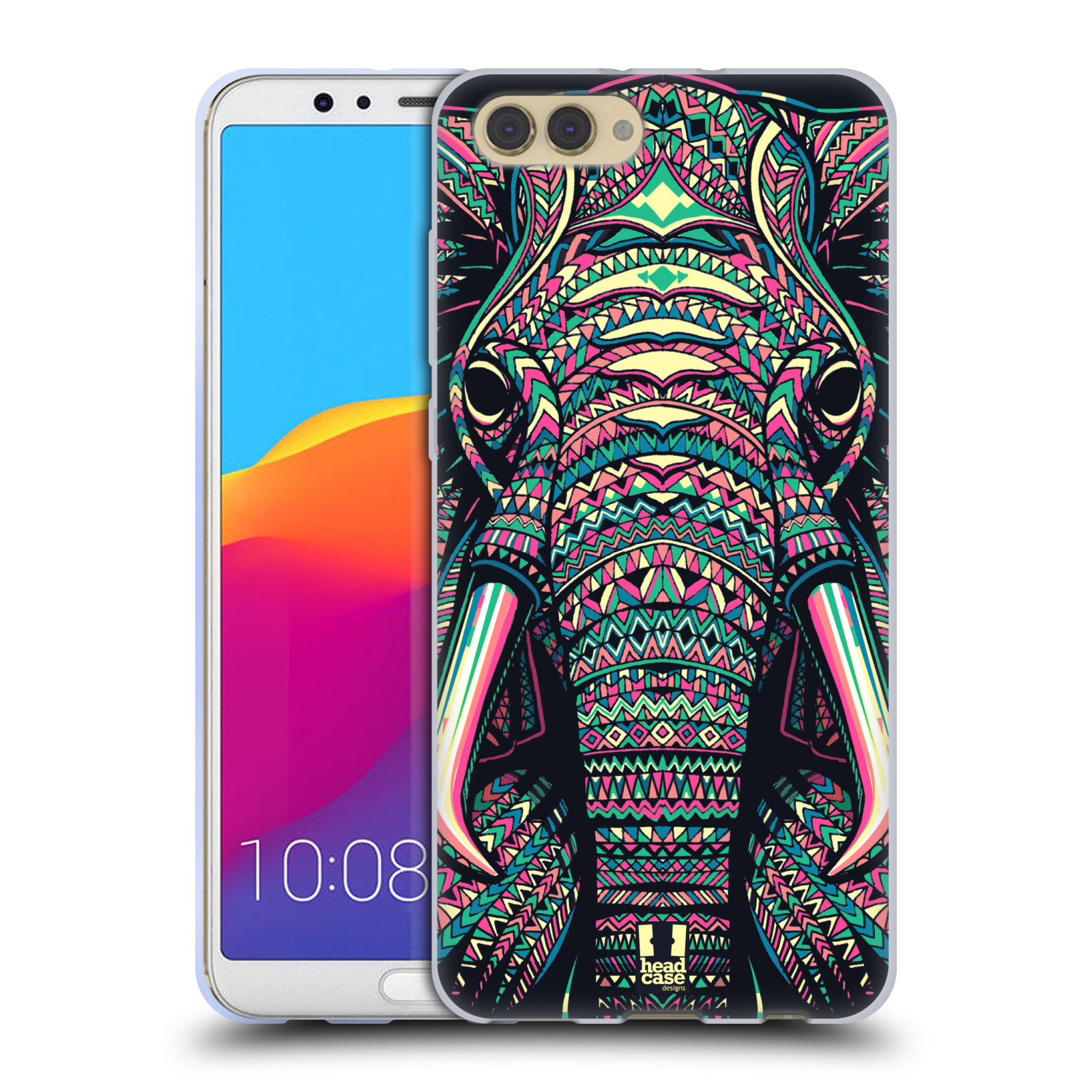 Silikonové pouzdro na mobil Honor View 10 - Head Case - AZTEC SLON