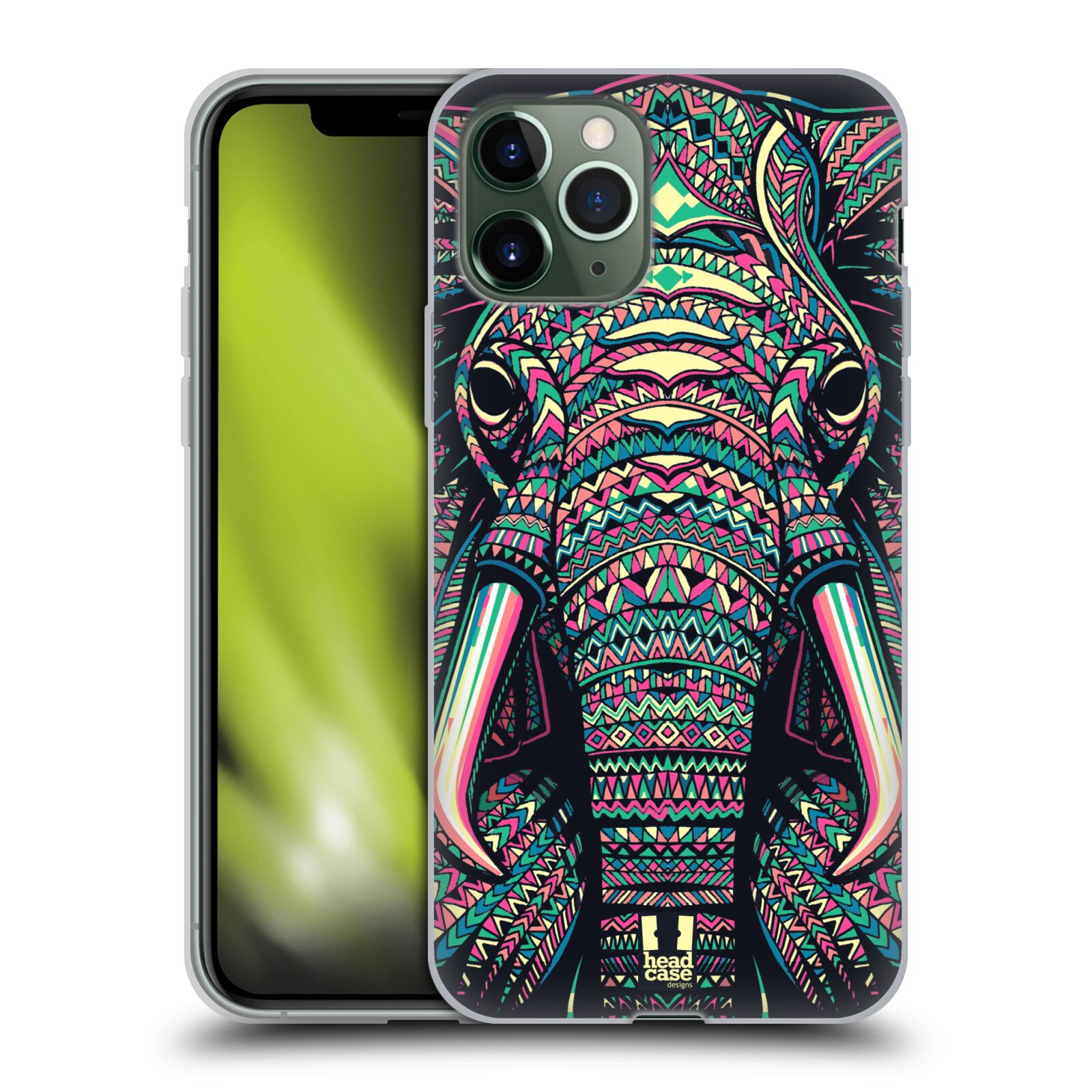 iphone 5s displej - Silikonové pouzdro na mobil Apple iPhone 11 Pro - Head Case - AZTEC SLON