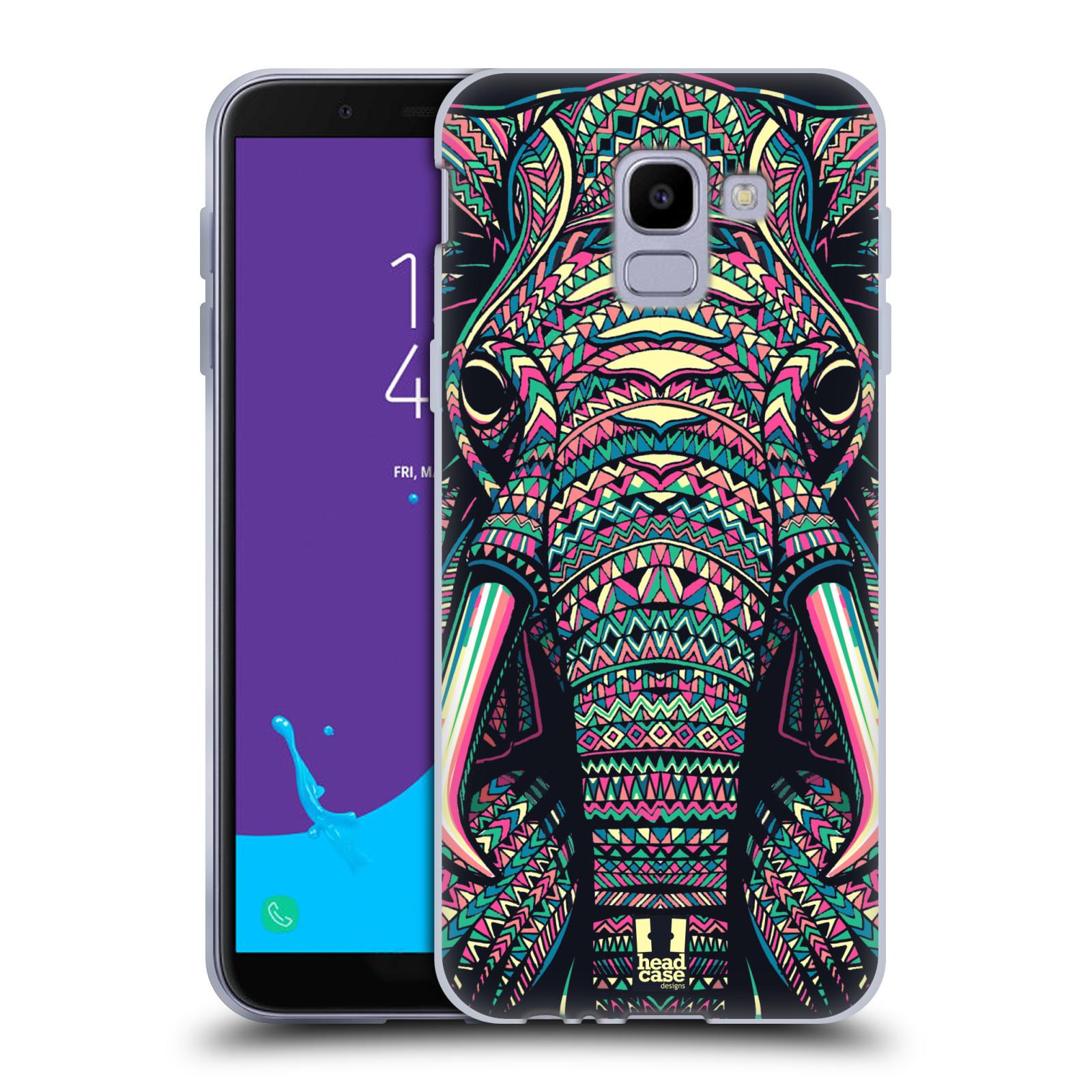 Silikonové pouzdro na mobil Samsung Galaxy J6 (2018) - Head Case - AZTEC SLON