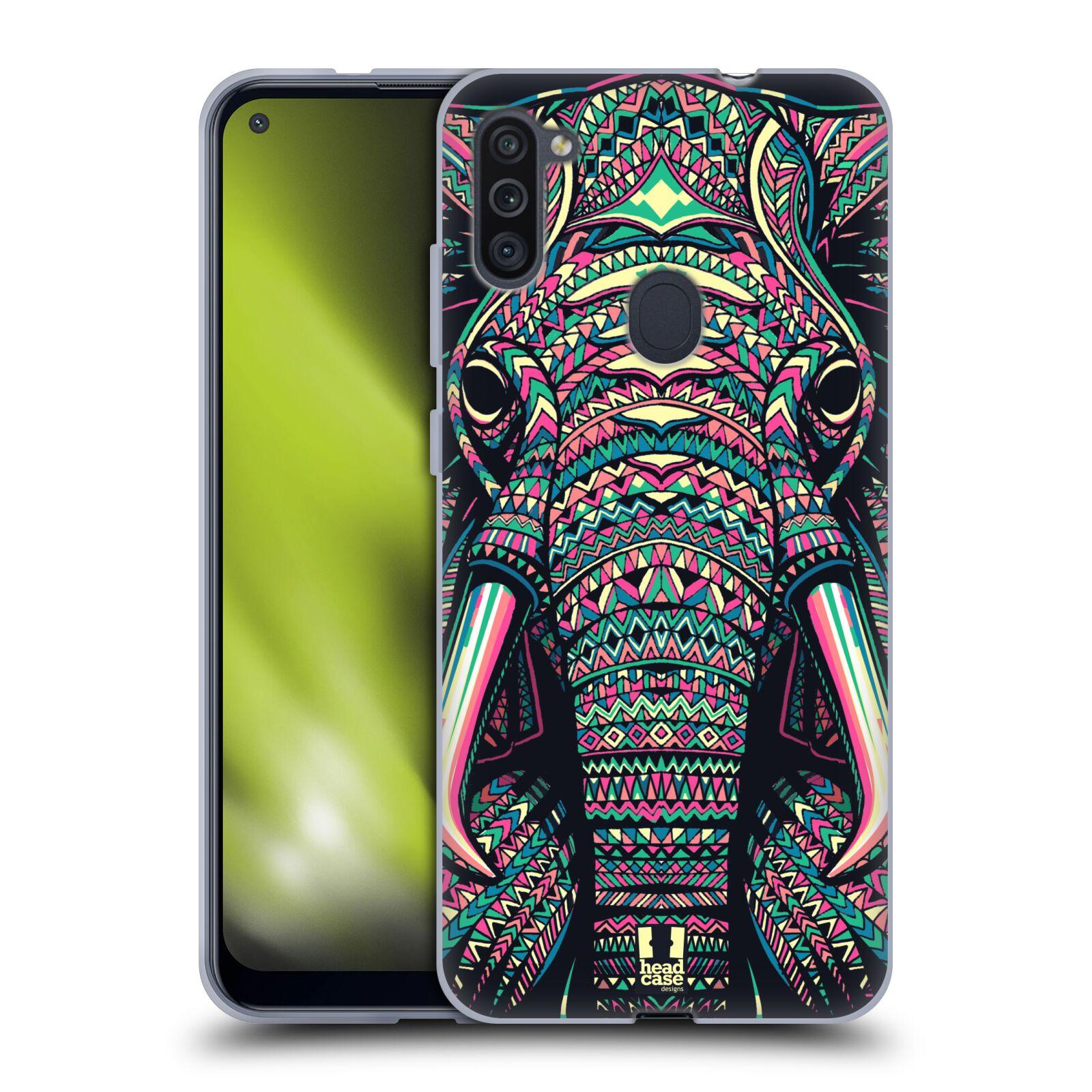 Silikonové pouzdro na mobil Samsung Galaxy M11 - Head Case - AZTEC SLON
