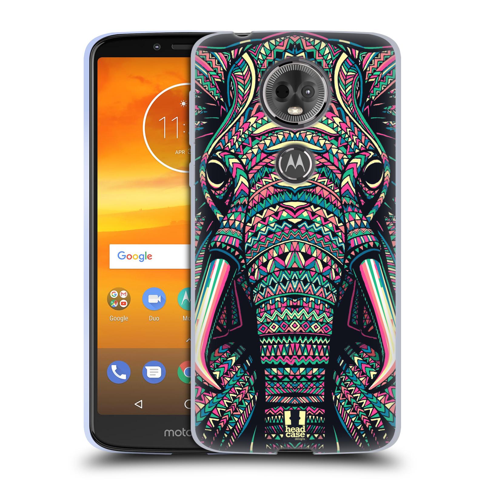 Silikonové pouzdro na mobil Motorola Moto E5 Plus - Head Case - AZTEC SLON