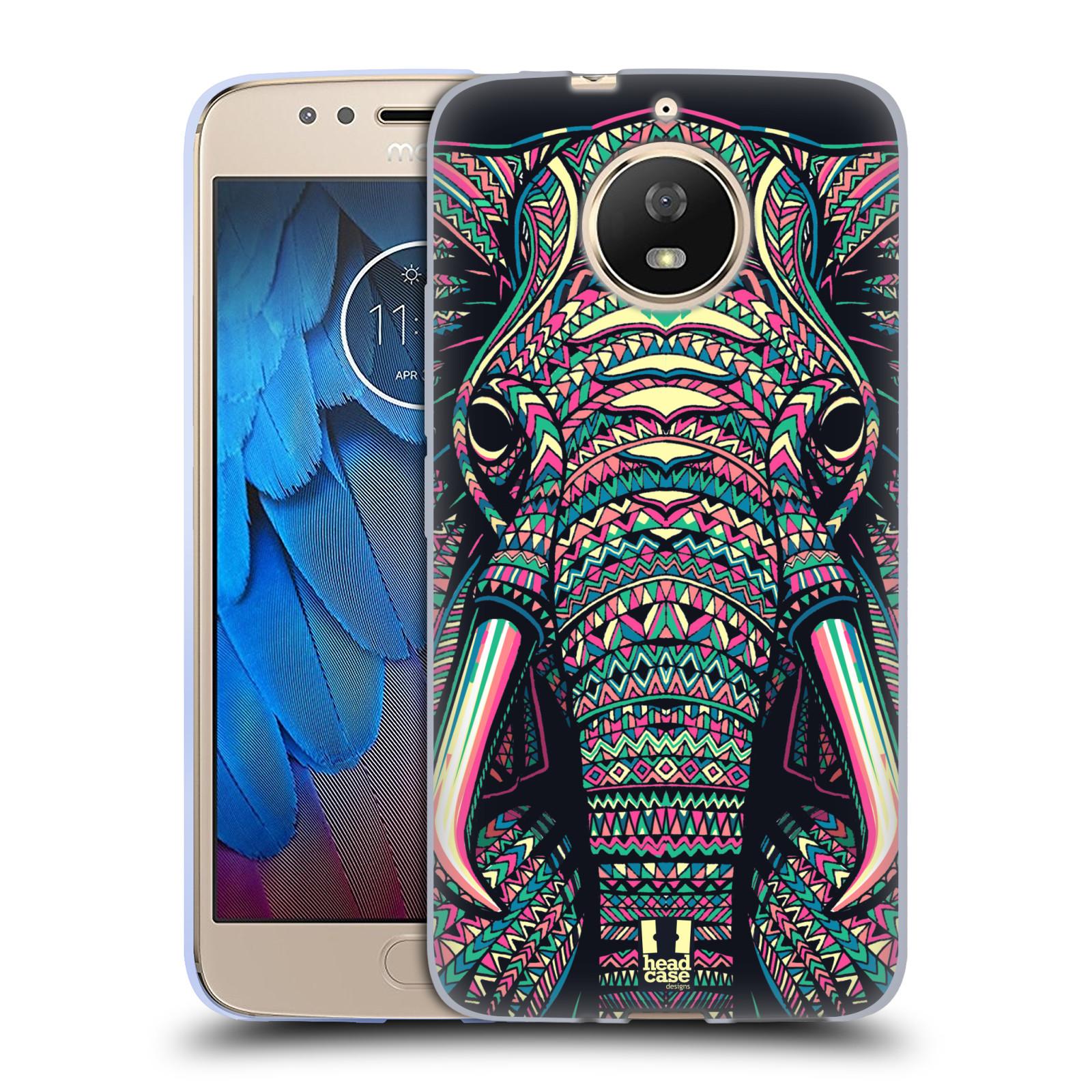 Silikonové pouzdro na mobil Lenovo Moto G5s - Head Case - AZTEC SLON