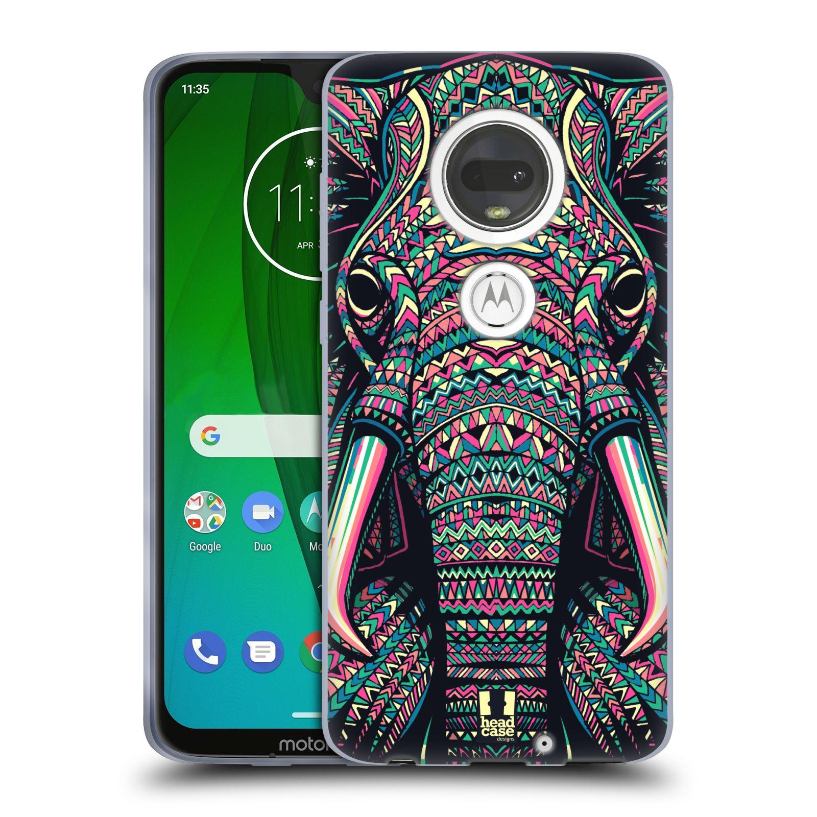 Silikonové pouzdro na mobil Motorola Moto G7 - Head Case - AZTEC SLON