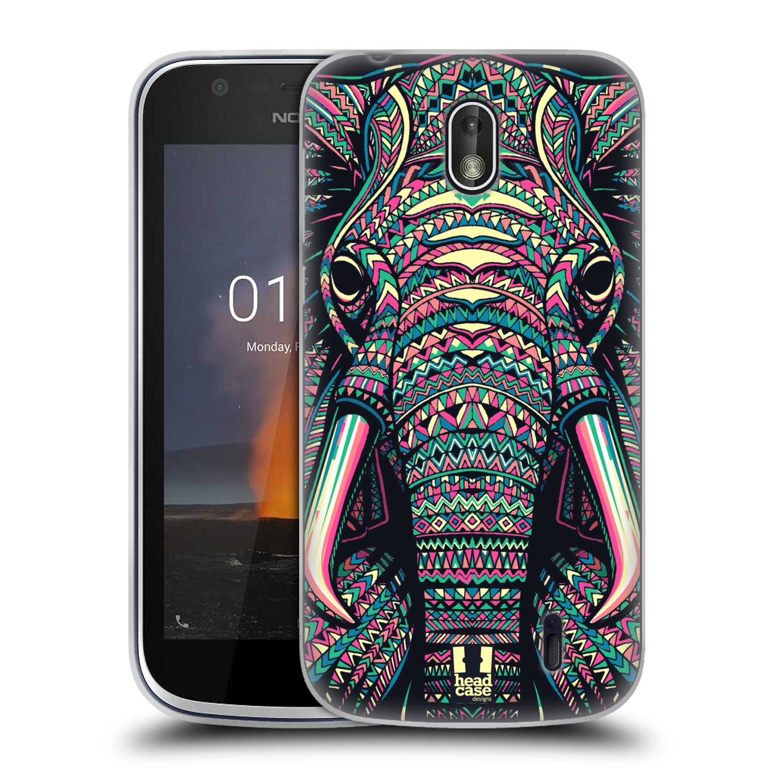 Silikonové pouzdro na mobil Nokia 1 - Head Case - AZTEC SLON