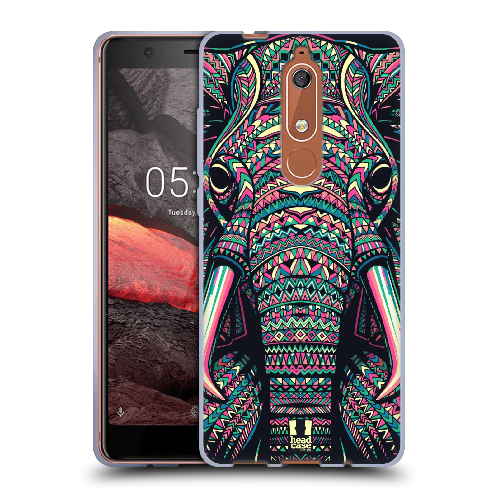 Silikonové pouzdro na mobil Nokia 5.1 - Head Case - AZTEC SLON