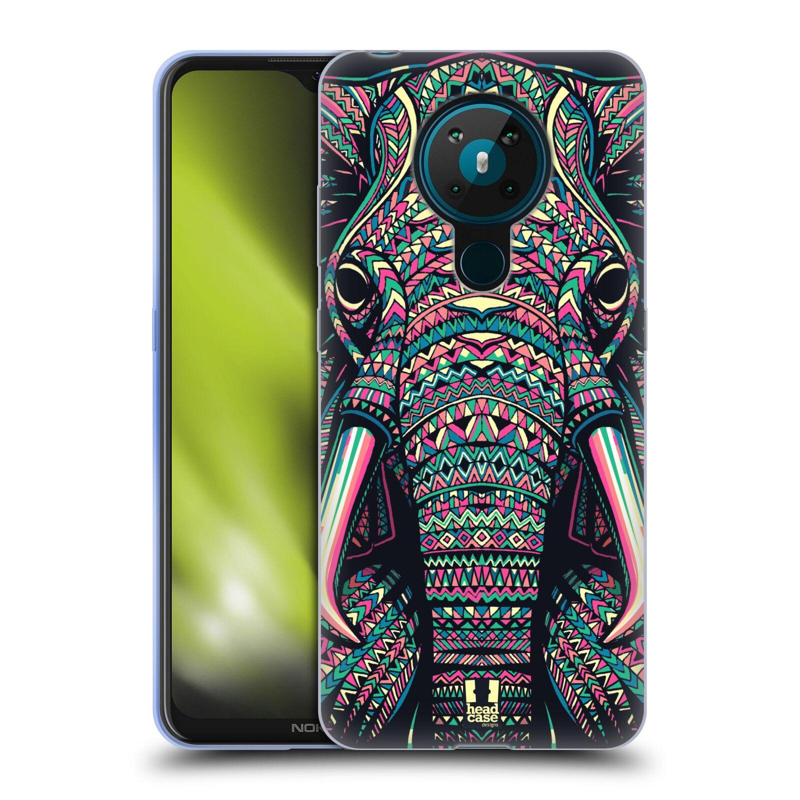 Silikonové pouzdro na mobil Nokia 5.3 - Head Case - AZTEC SLON