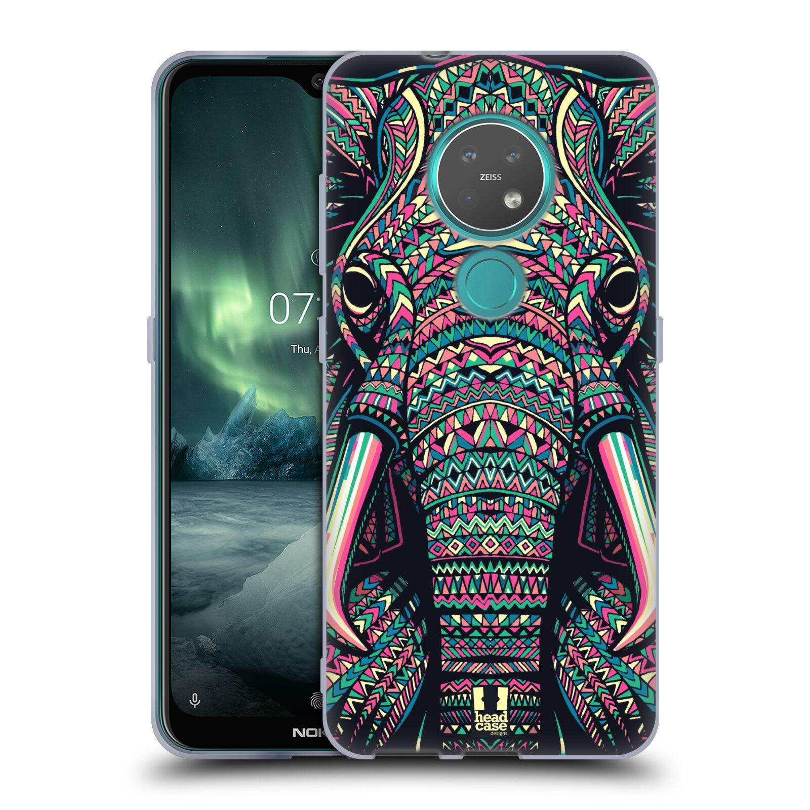 Silikonové pouzdro na mobil Nokia 7.2 - Head Case - AZTEC SLON