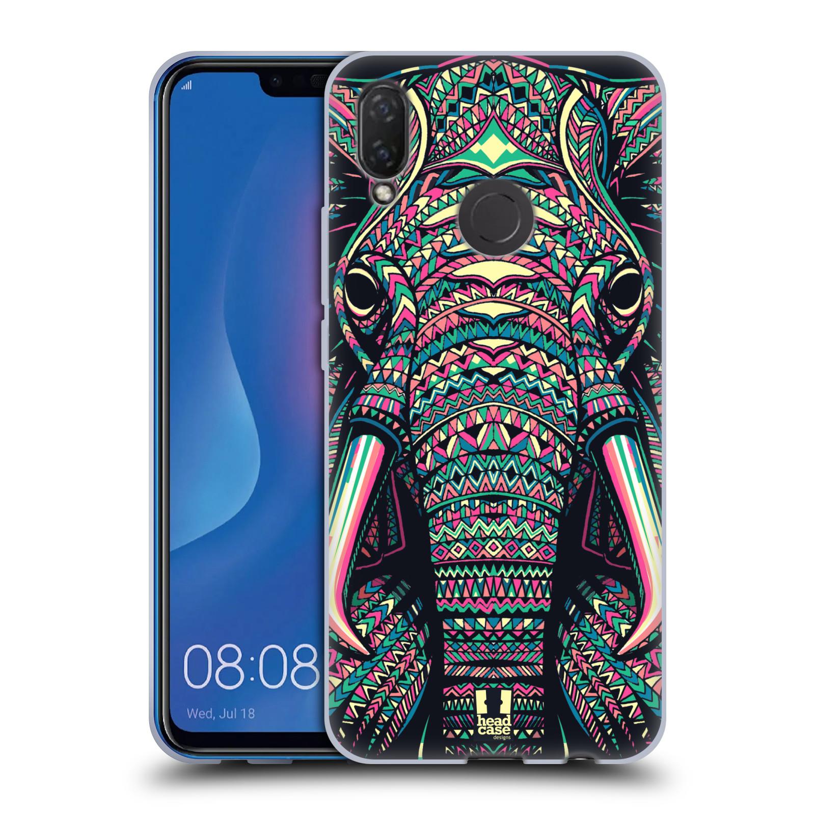 Silikonové pouzdro na mobil Huawei Nova 3i - Head Case - AZTEC SLON