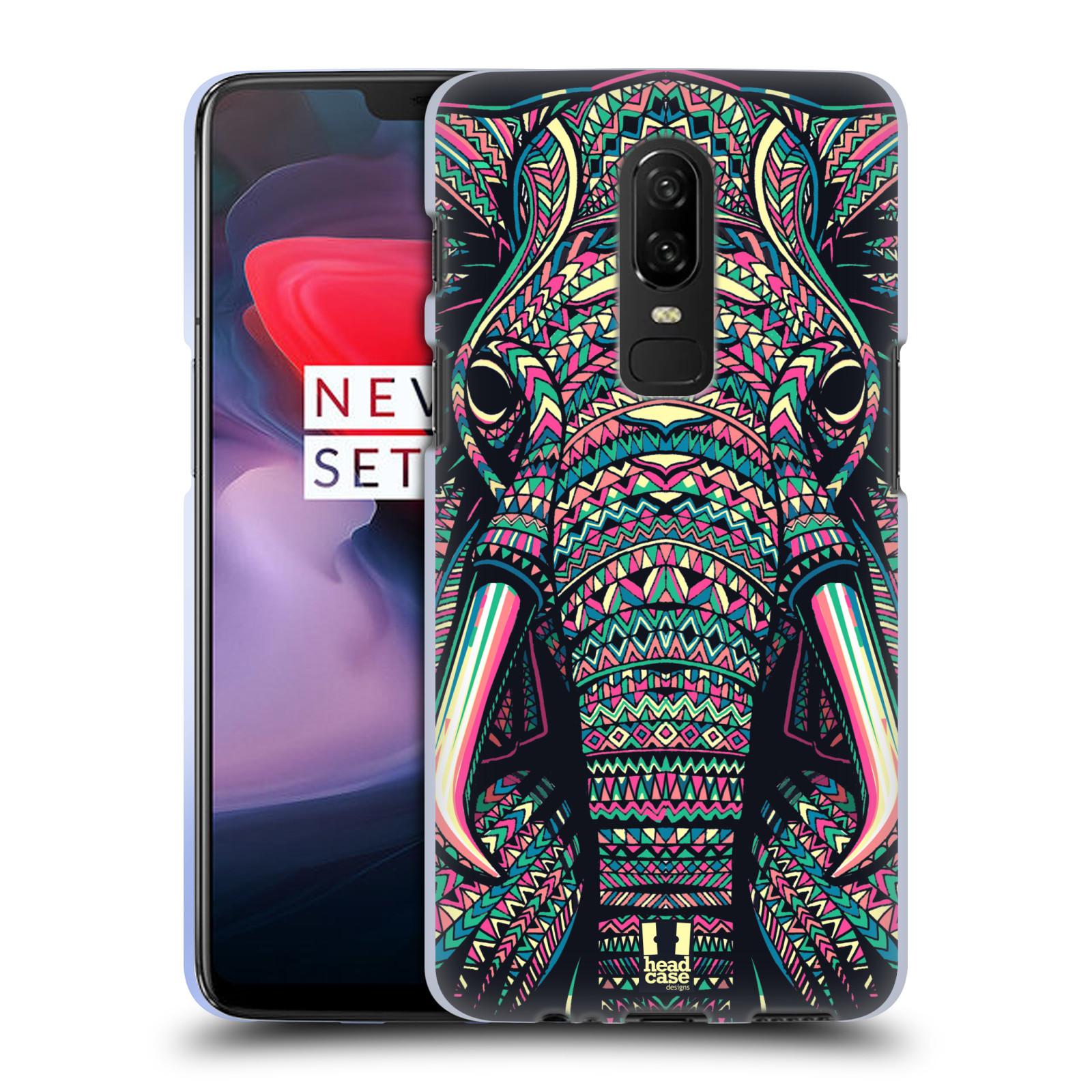 Silikonové pouzdro na mobil OnePlus 6 - Head Case - AZTEC SLON
