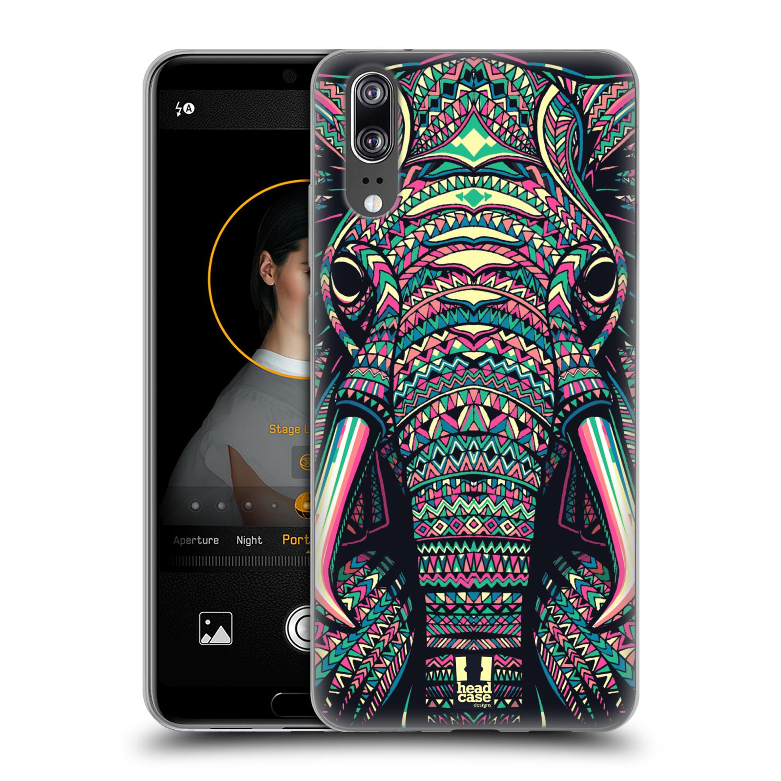 Silikonové pouzdro na mobil Huawei P20 - Head Case - AZTEC SLON