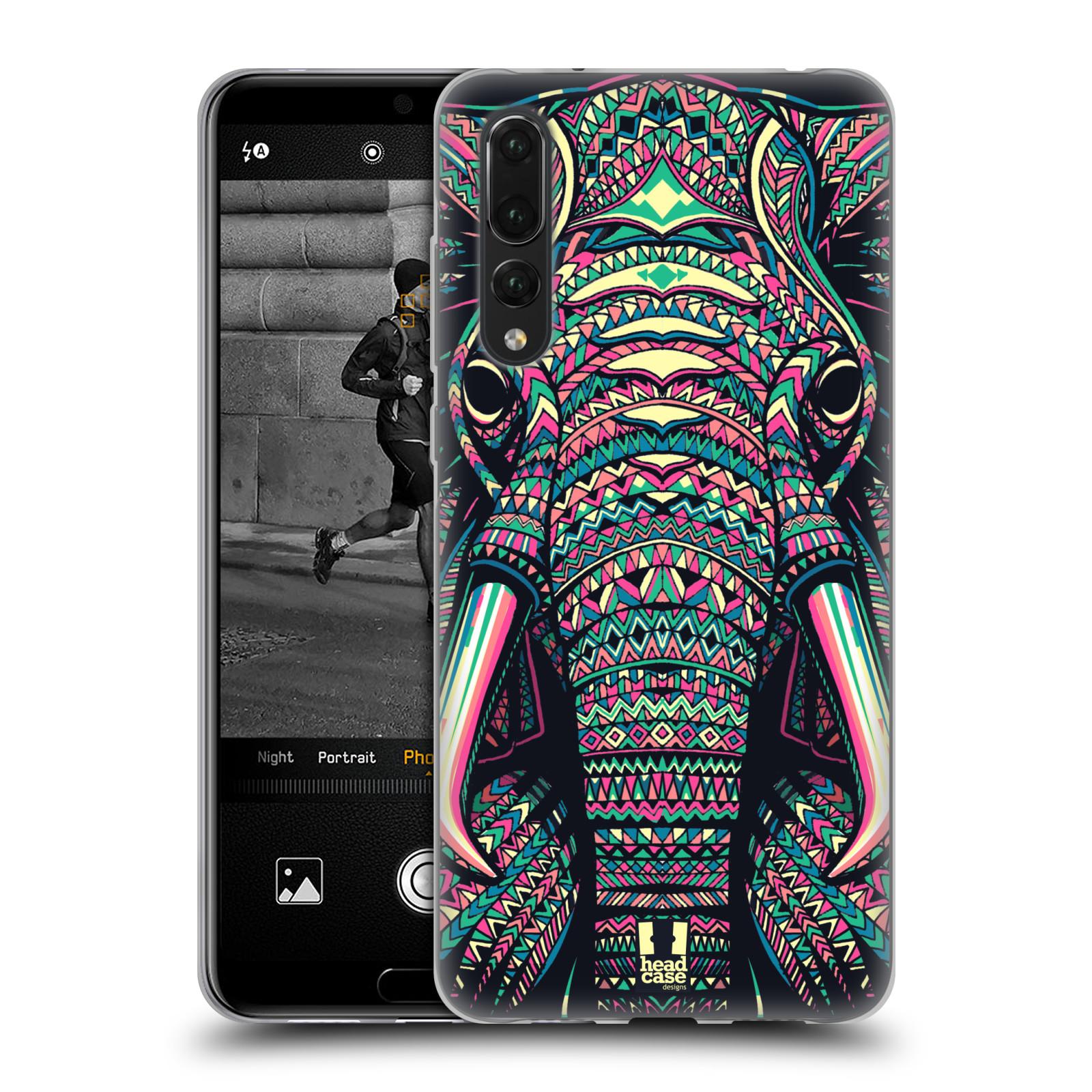 Silikonové pouzdro na mobil Huawei P20 Pro - Head Case - AZTEC SLON