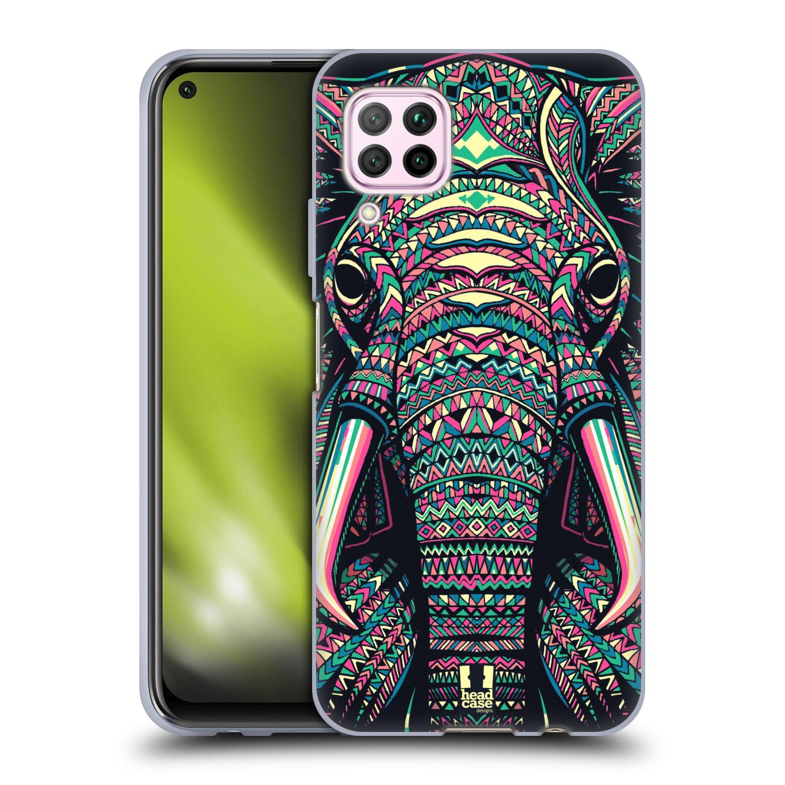 Silikonové pouzdro na mobil Huawei P40 Lite - Head Case - AZTEC SLON