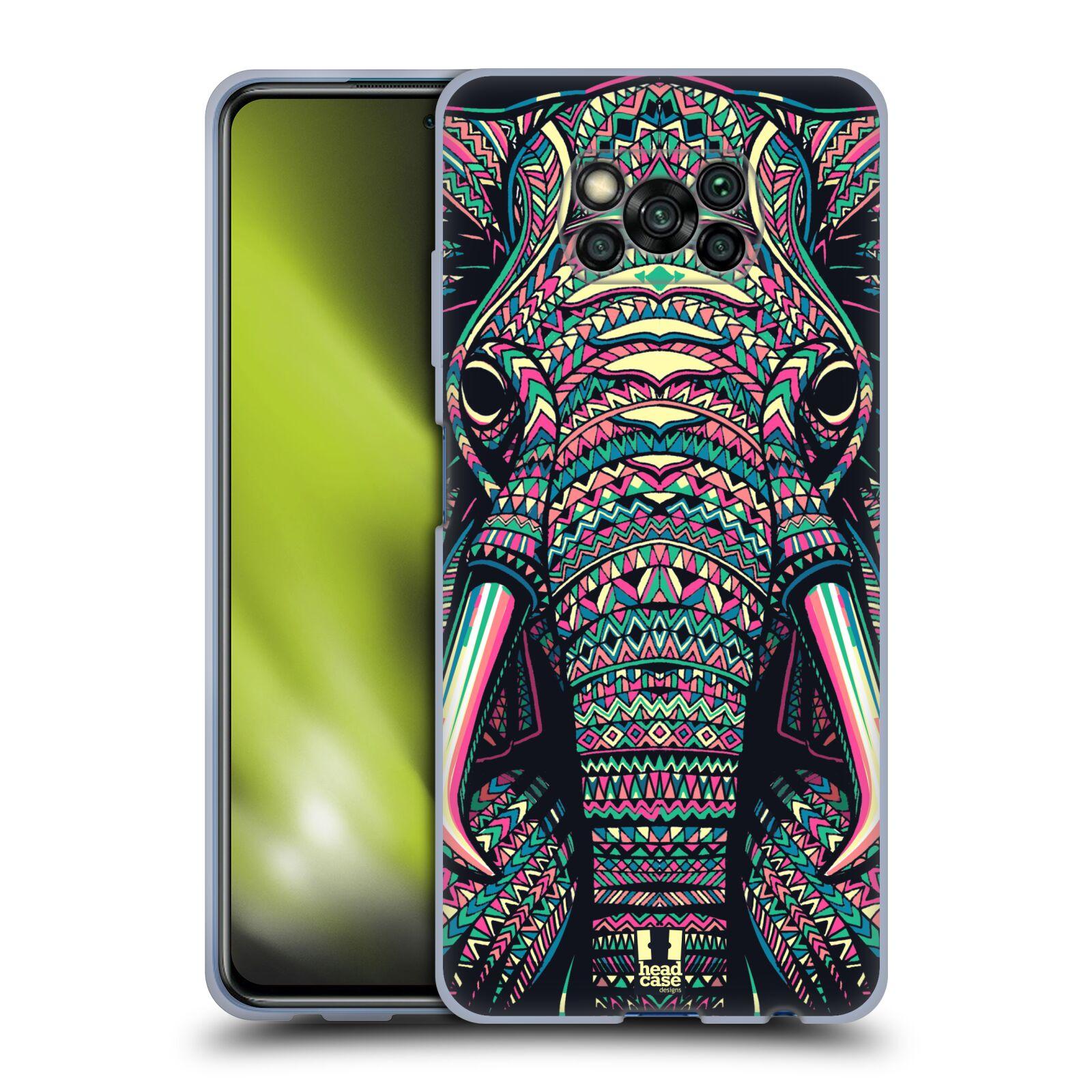 Silikonové pouzdro na mobil Xiaomi Poco X3 NFC - Head Case - AZTEC SLON
