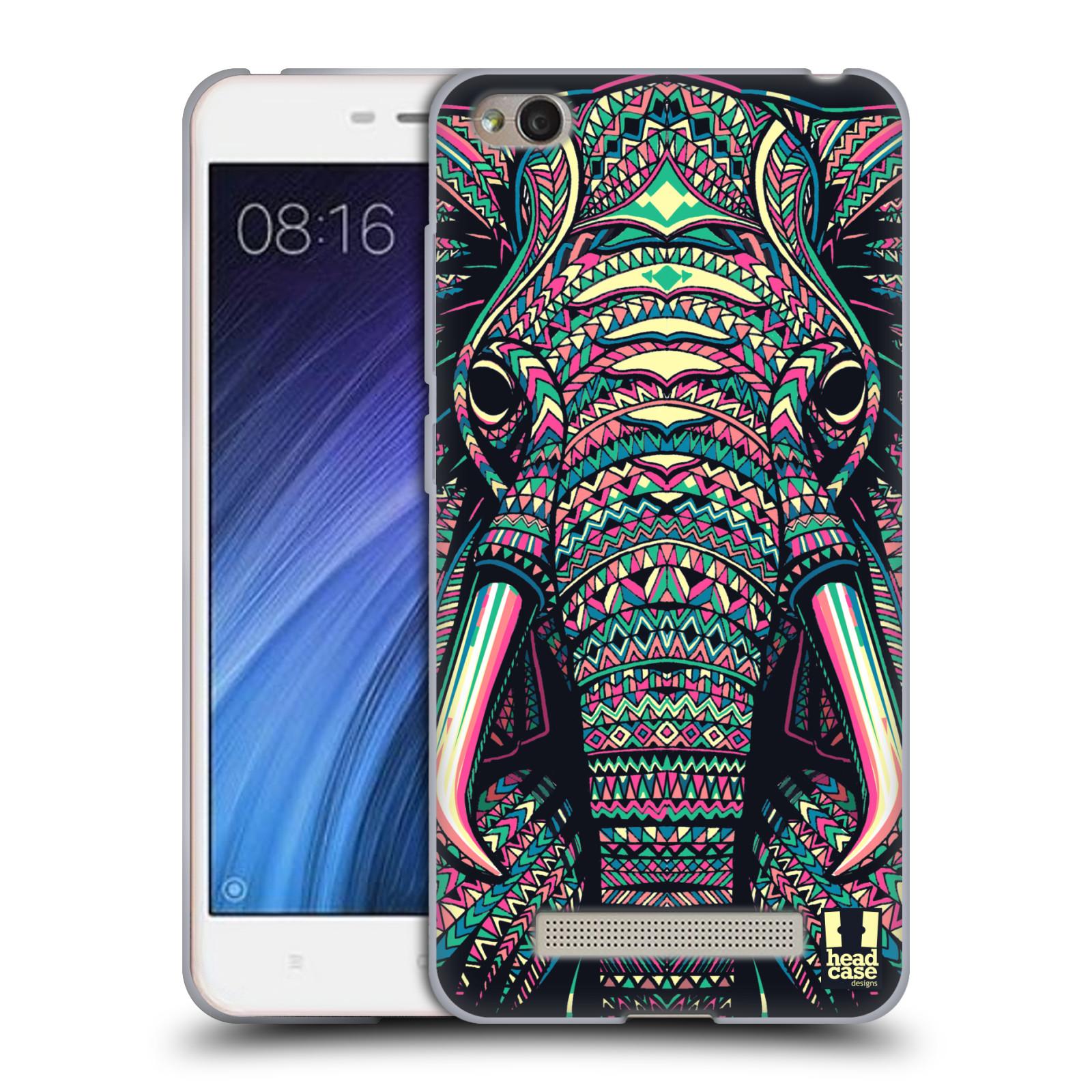 Silikonové pouzdro na mobil Xiaomi Redmi 4A - Head Case - AZTEC SLON