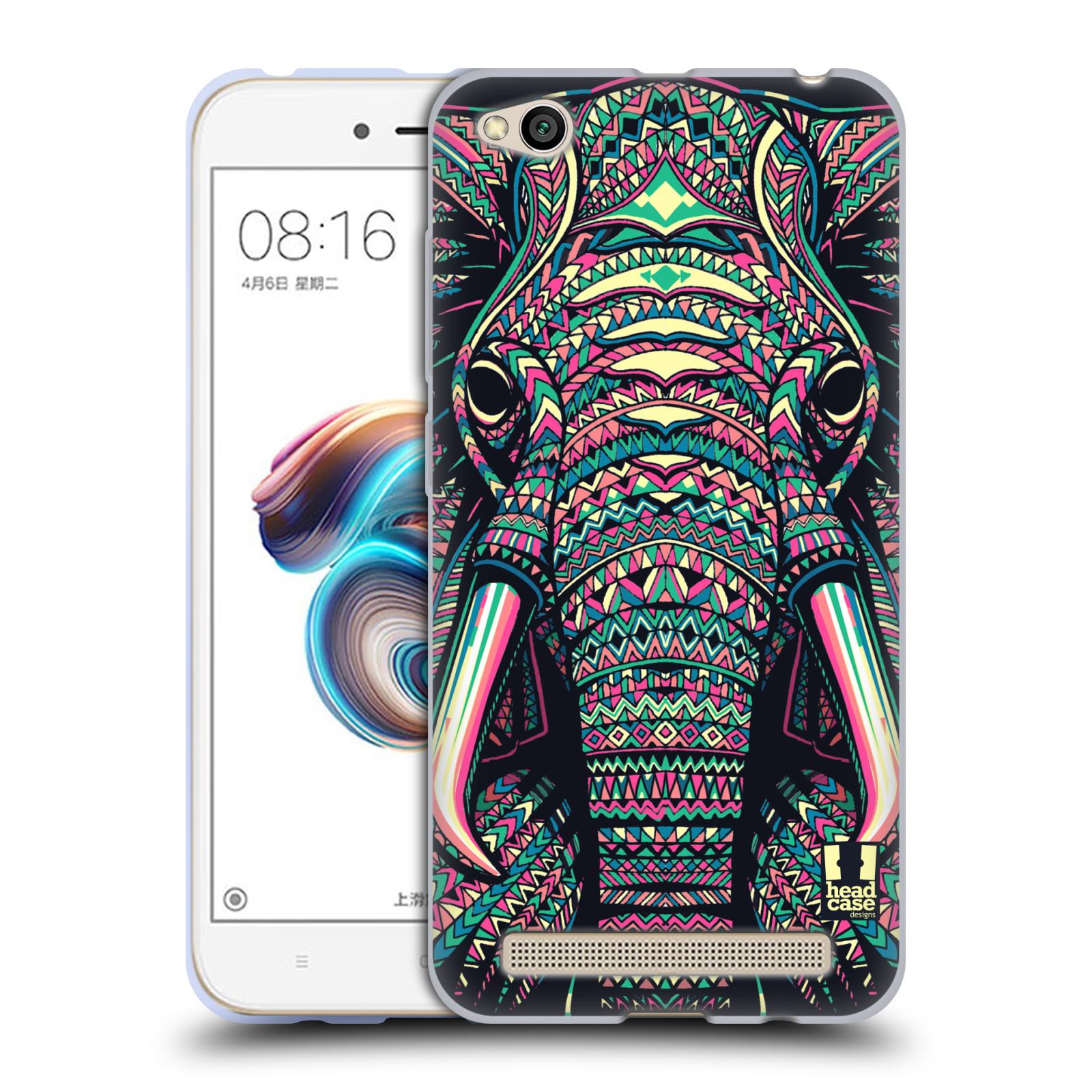 Silikonové pouzdro na mobil Xiaomi Redmi 5A - Head Case - AZTEC SLON