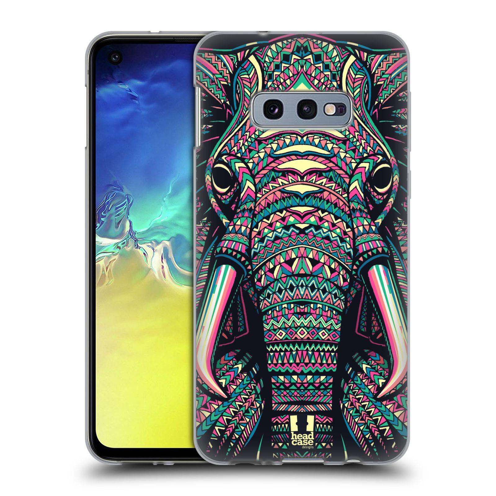 Silikonové pouzdro na mobil Samsung Galaxy S10e - Head Case - AZTEC SLON