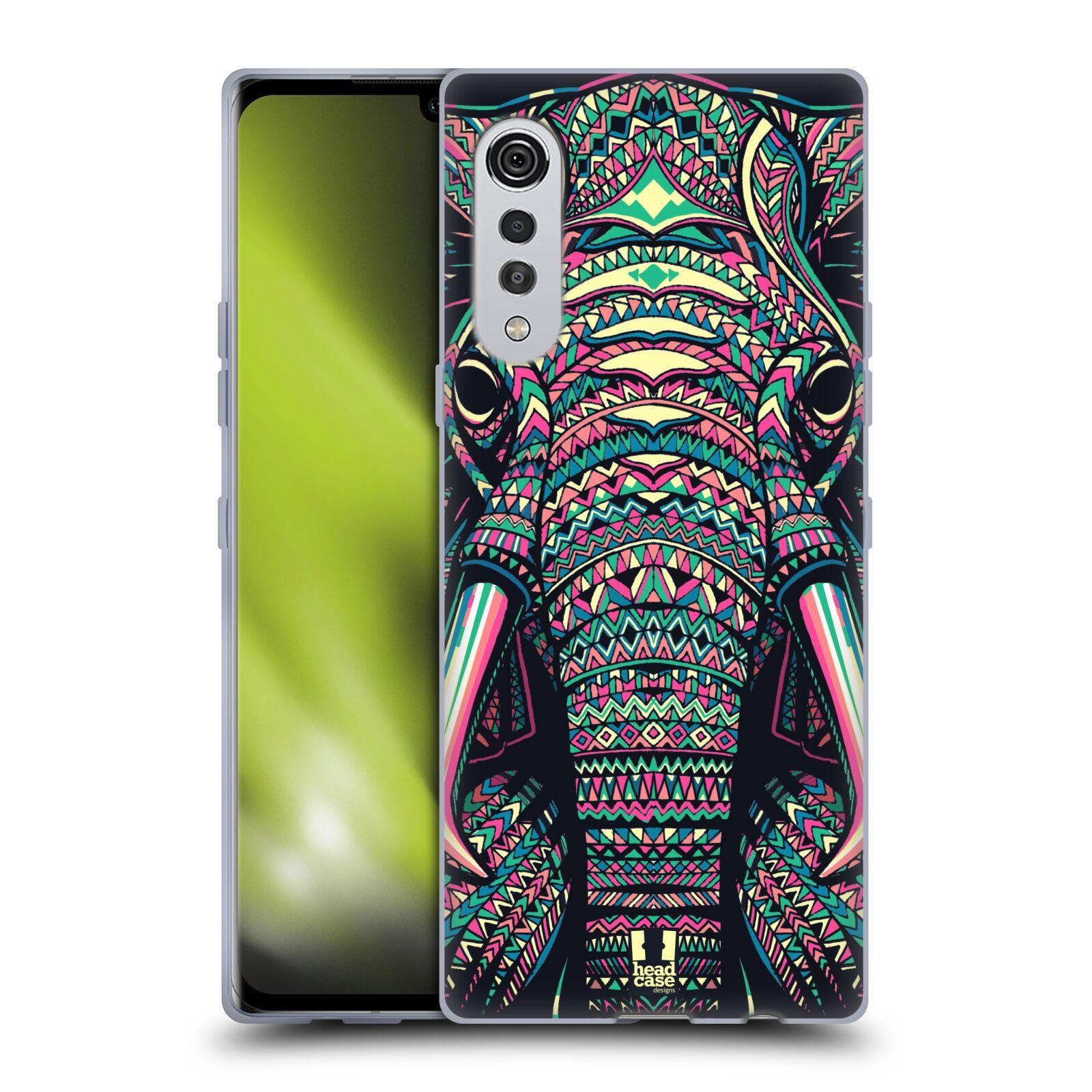 Silikonové pouzdro na mobil LG Velvet - Head Case - AZTEC SLON