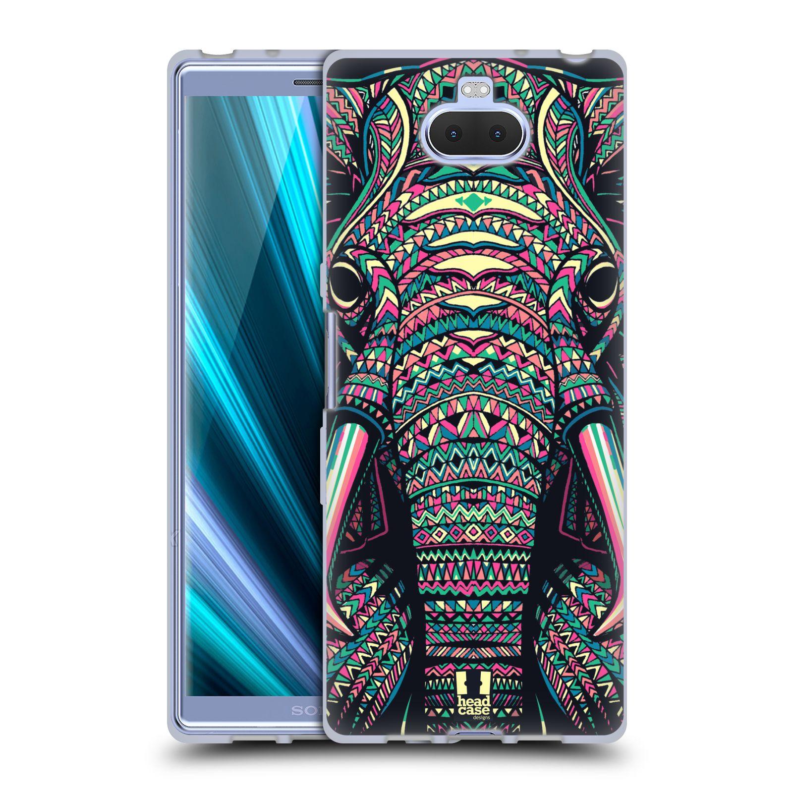Silikonové pouzdro na mobil Sony Xperia 10 - Head Case - AZTEC SLON