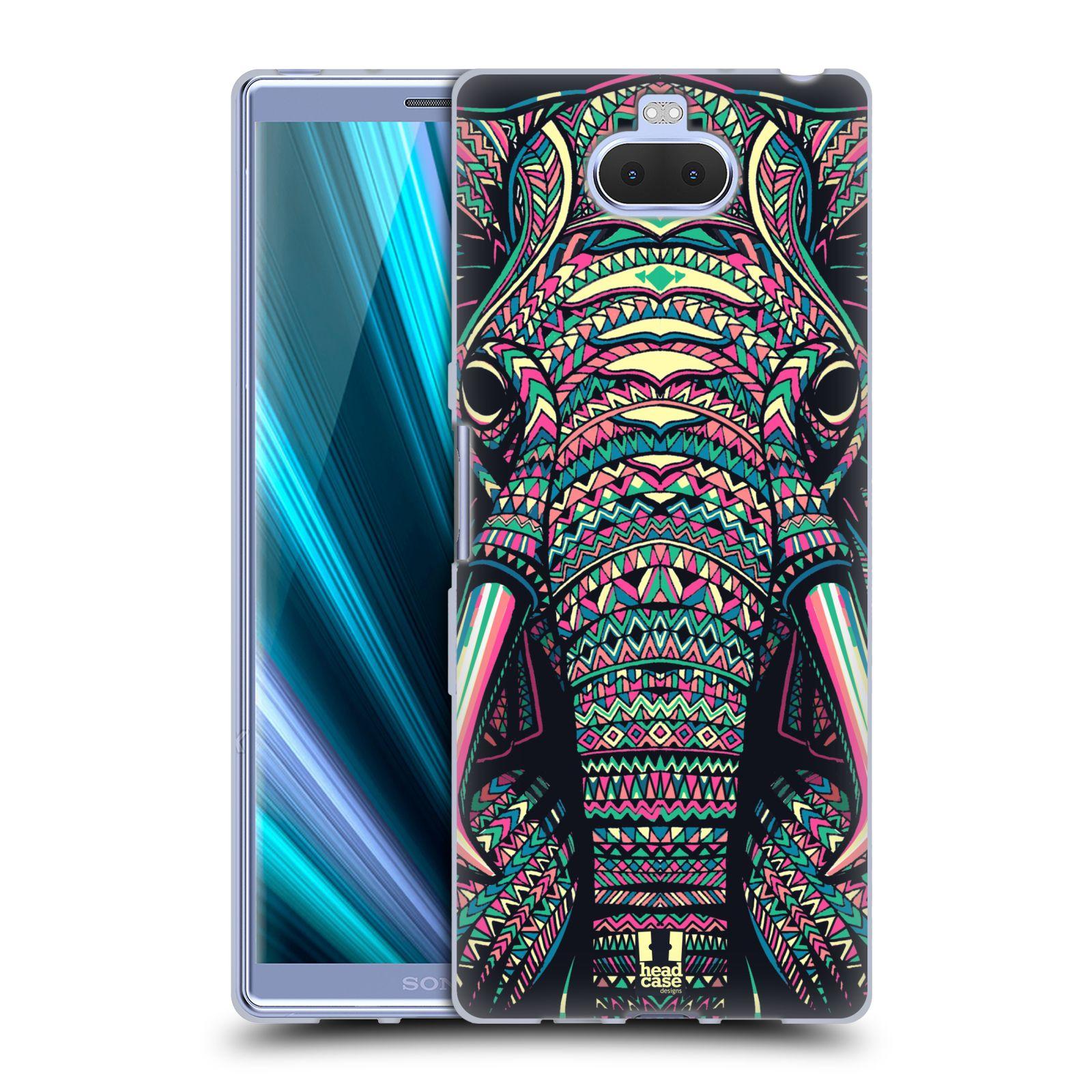 Silikonové pouzdro na mobil Sony Xperia 10 Plus - Head Case - AZTEC SLON