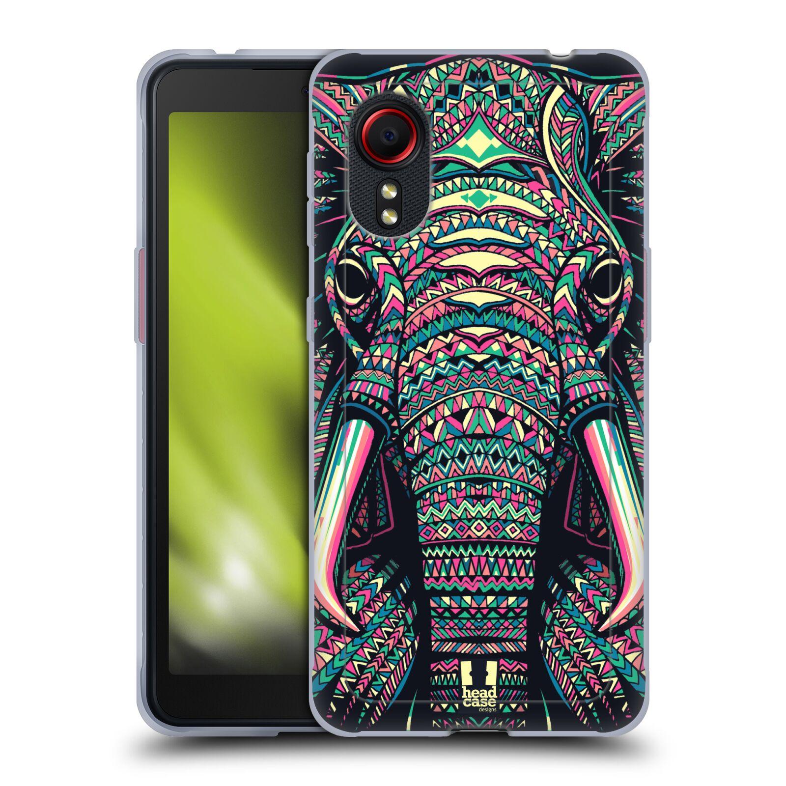 Silikonové pouzdro na mobil Samsung Galaxy Xcover 5 - Head Case - AZTEC SLON