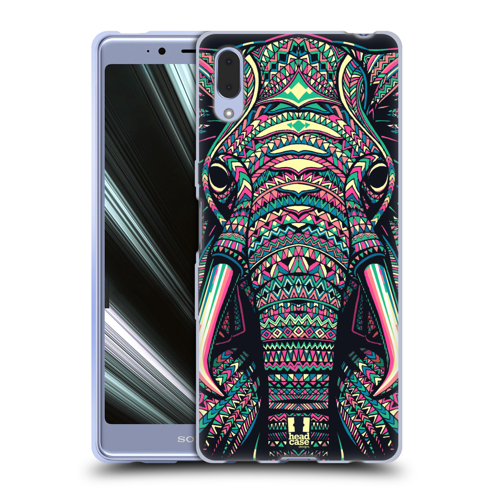 Silikonové pouzdro na mobil Sony Xperia L3 - Head Case - AZTEC SLON