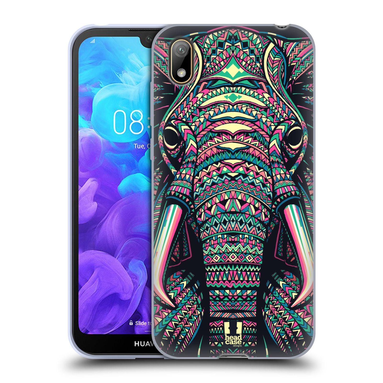 Silikonové pouzdro na mobil Huawei Y5 (2019) - Head Case - AZTEC SLON
