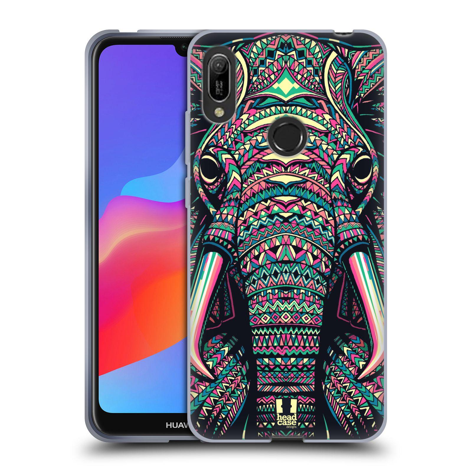 Silikonové pouzdro na mobil Huawei Y6 (2019) - Head Case - AZTEC SLON