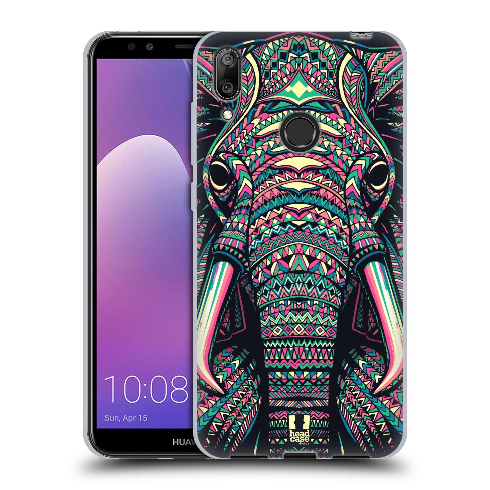 Silikonové pouzdro na mobil Huawei Y7 (2019) - Head Case - AZTEC SLON