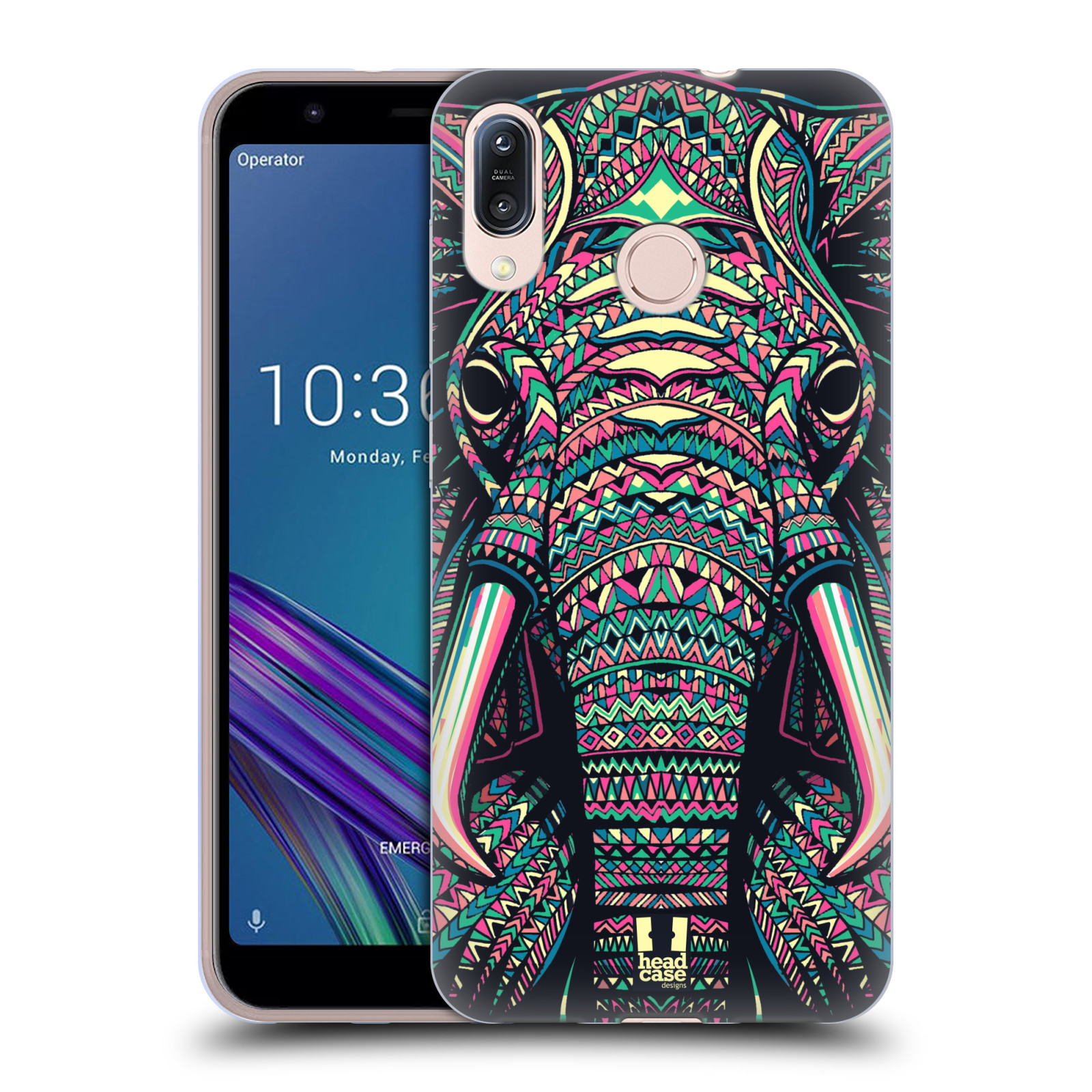 Silikonové pouzdro na mobil Asus Zenfone Max M1 ZB555KL - Head Case - AZTEC SLON