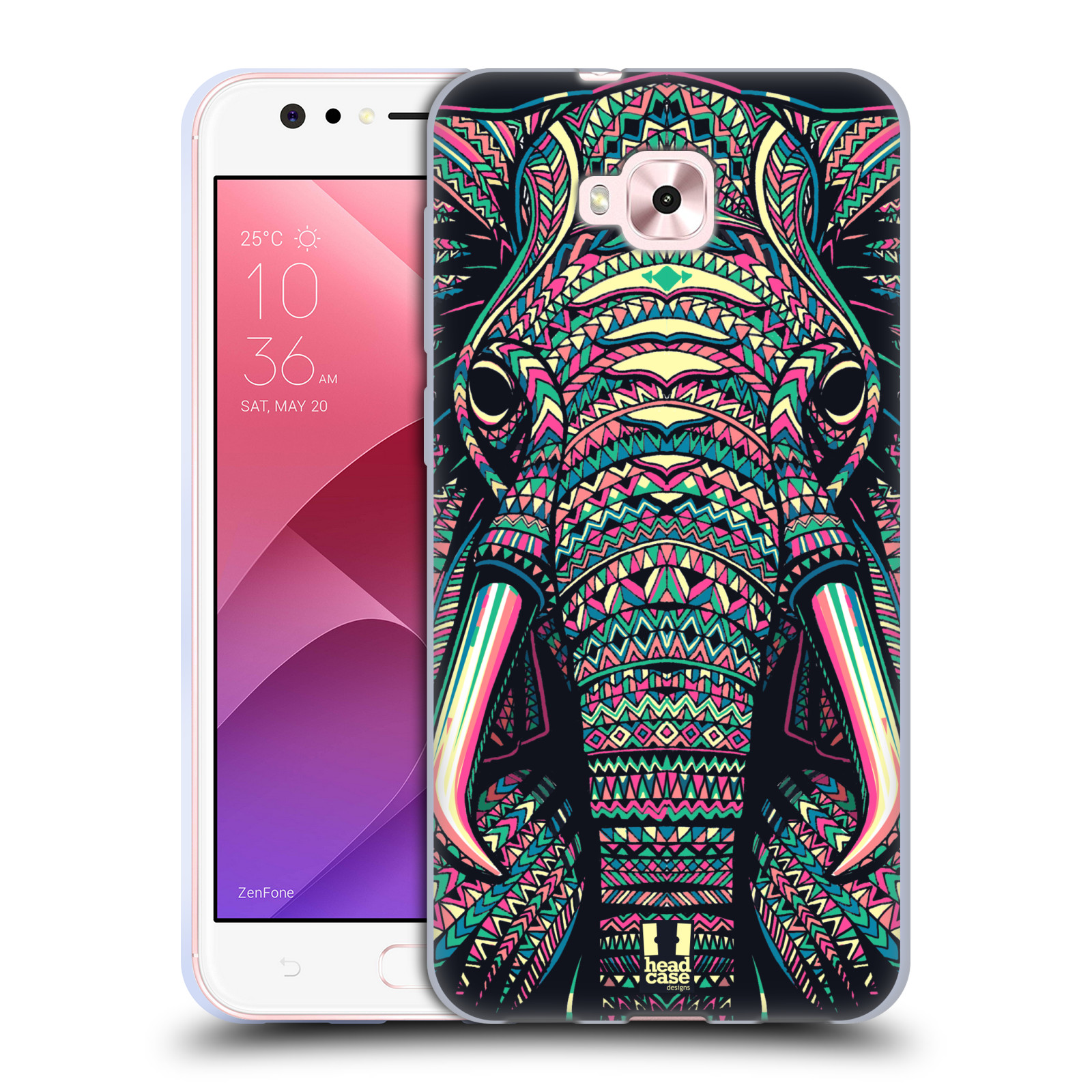Silikonové pouzdro na mobil Asus Zenfone 4 Selfie ZD553KL - Head Case - AZTEC SLON