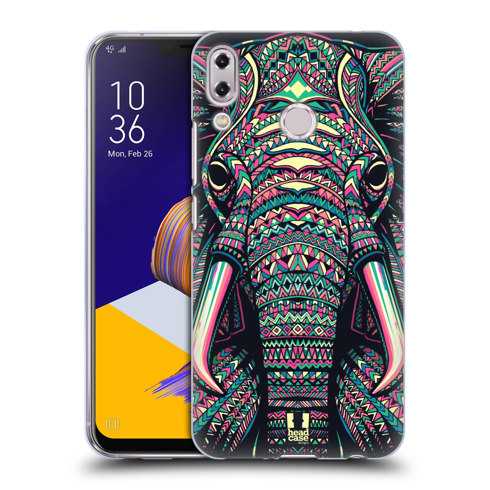 Silikonové pouzdro na mobil Asus Zenfone 5z ZS620KL - Head Case - AZTEC SLON